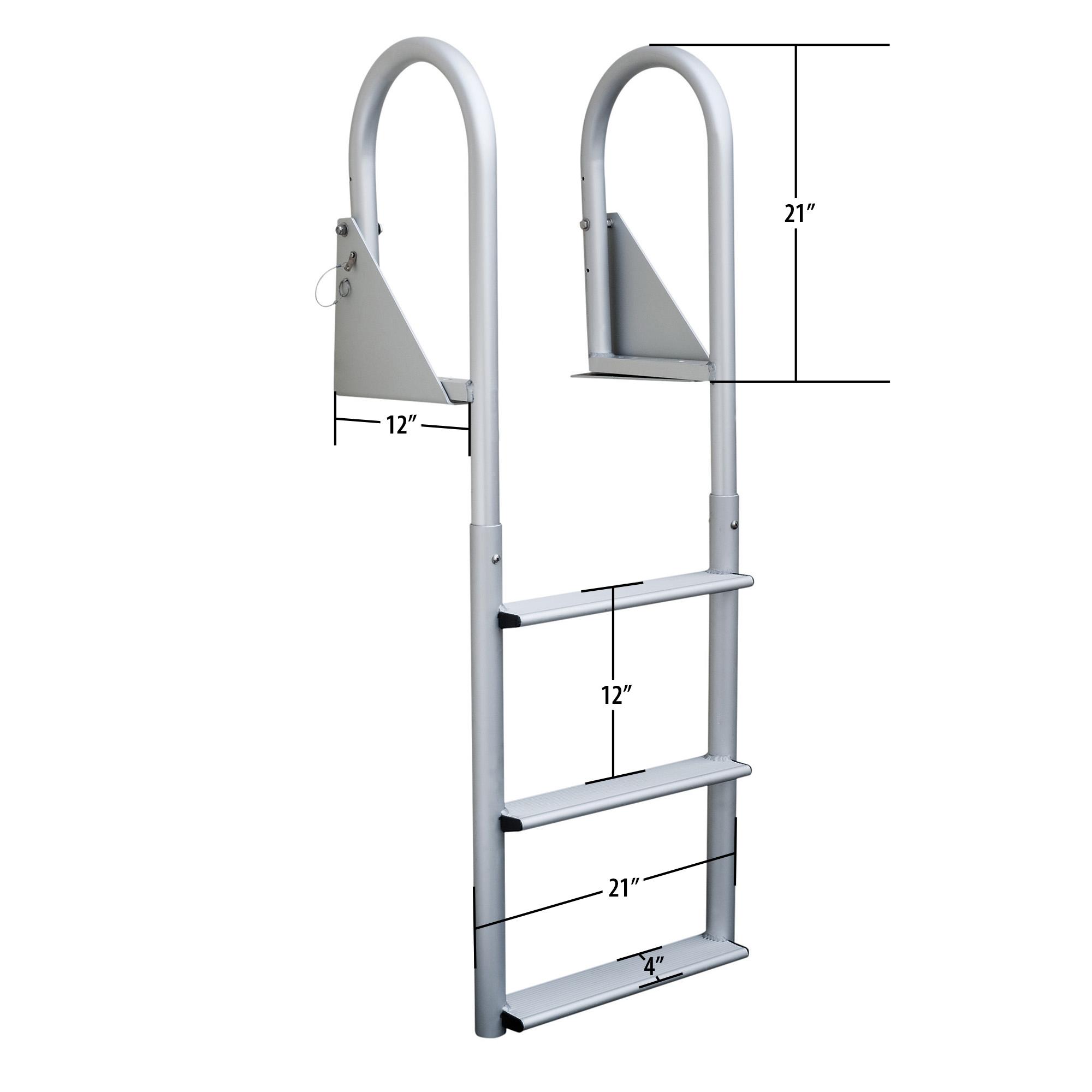 Dockmate Wide Step Flip-Up Dock Ladder