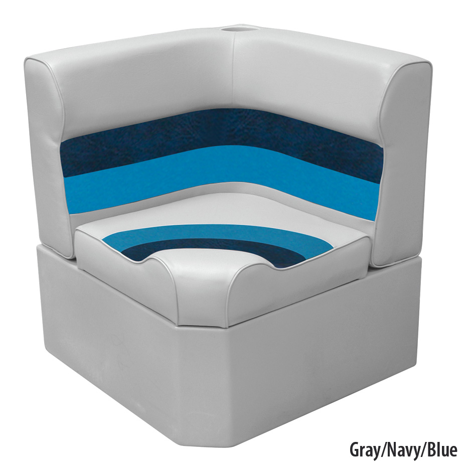 Toonmate Deluxe Radiused Corner Section Seat w/Classic Base (no toe kick), Gray