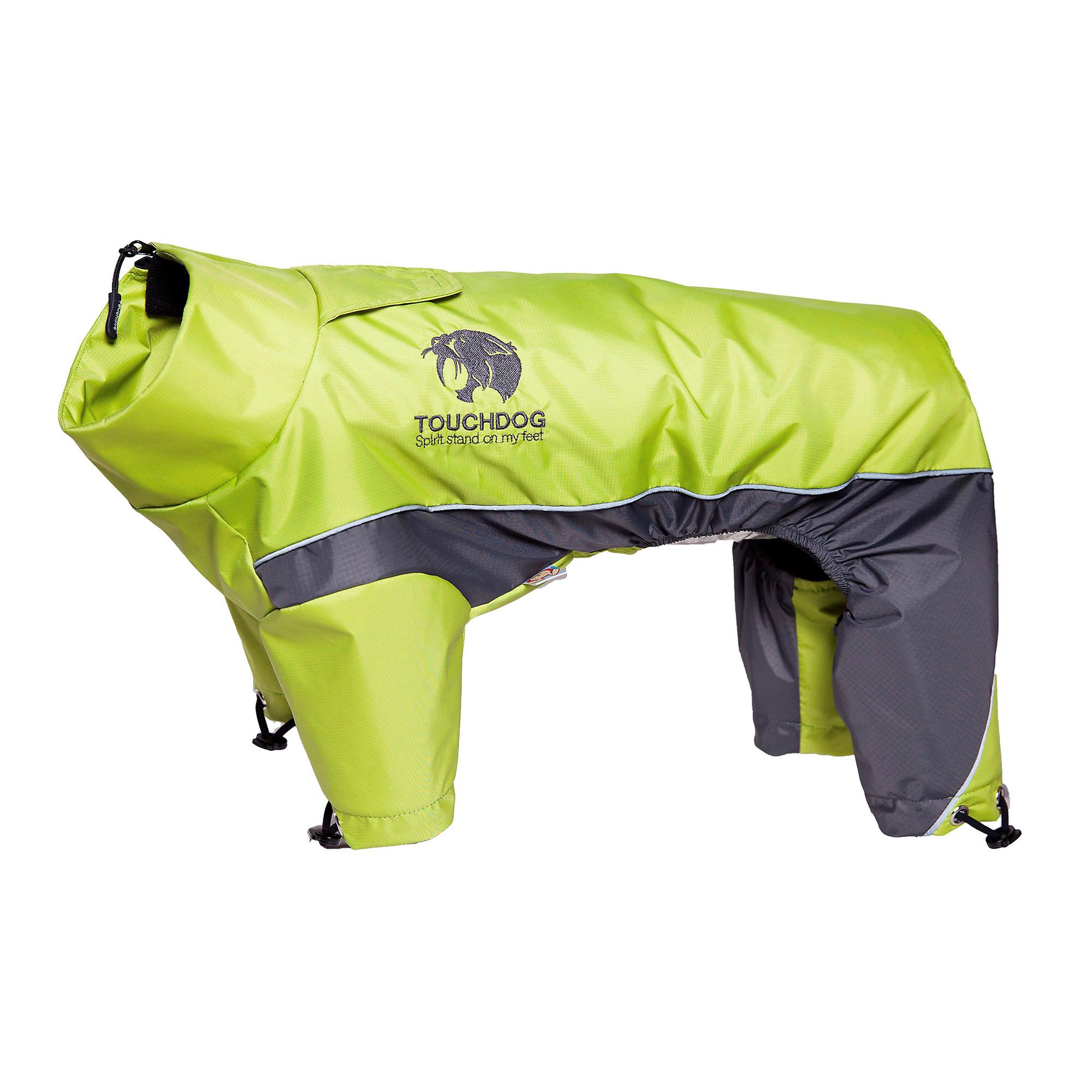 Touchdog Quantum-Ice Full-Bodied Adjustable and 3M Reflective Dog Jacket w/ Blackshark Technology, Light Yellow-Grey X-Large (812131035260 Lifestyle Pet Pet Apparel T-Shirts & Jackets) photo