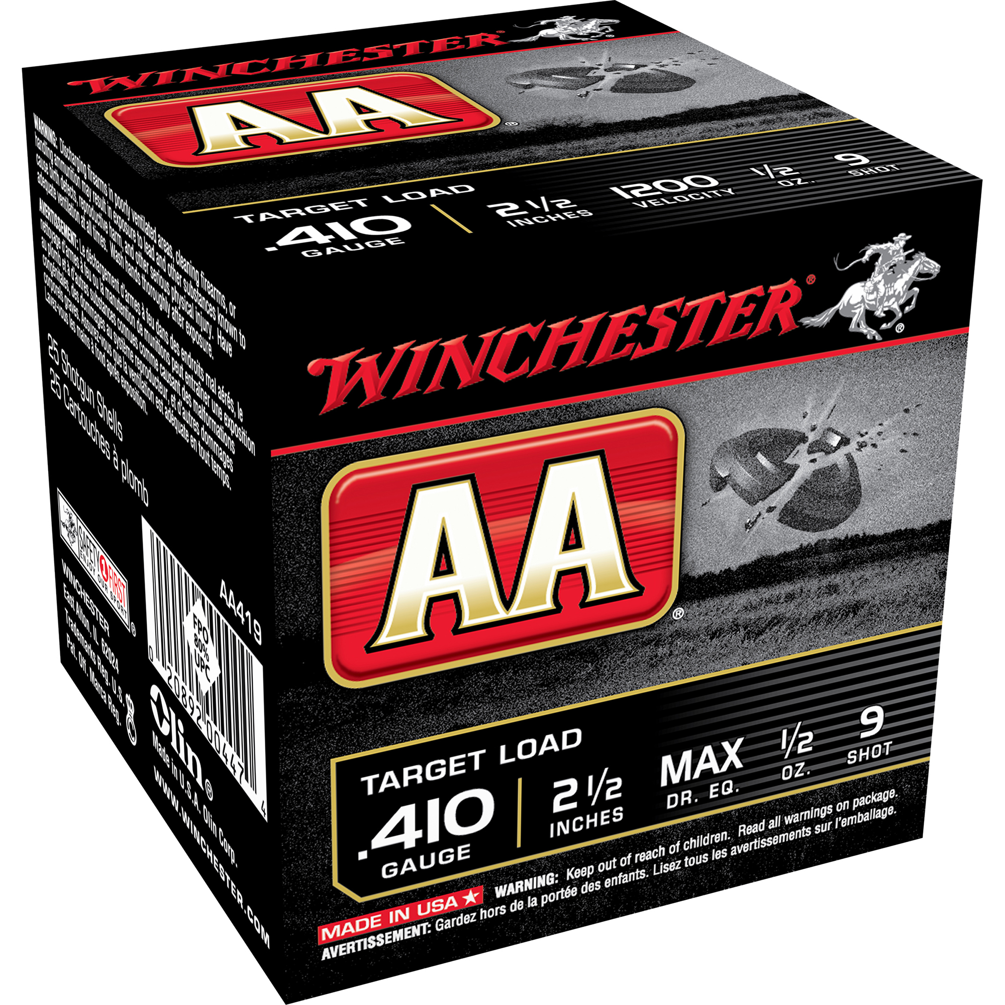 "Winchester AA Target Loads, .410-ga., 2-1/2"", 1/2 oz.,"
