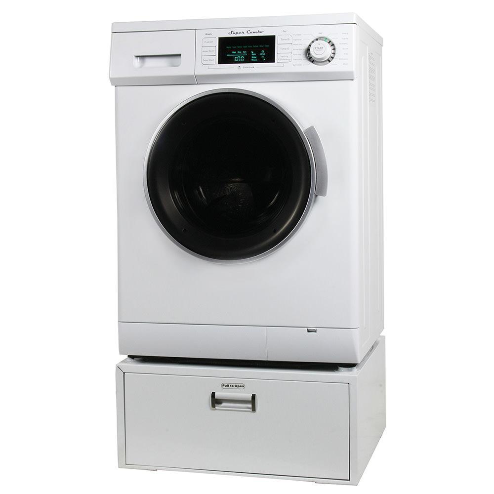 Equator Super Combo Washer/Dryer, White, 2013 Model + Pedstal Storage photo