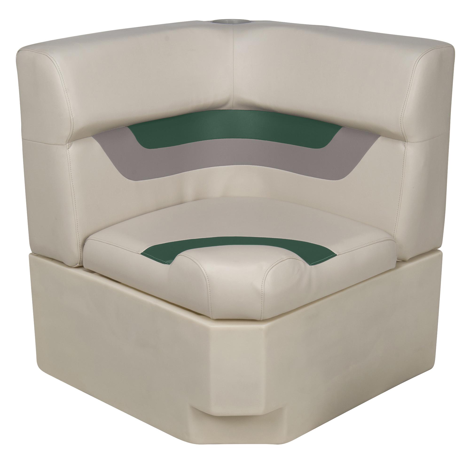 Toonmate Designer Pontoon Corner Section Seat, Platinum