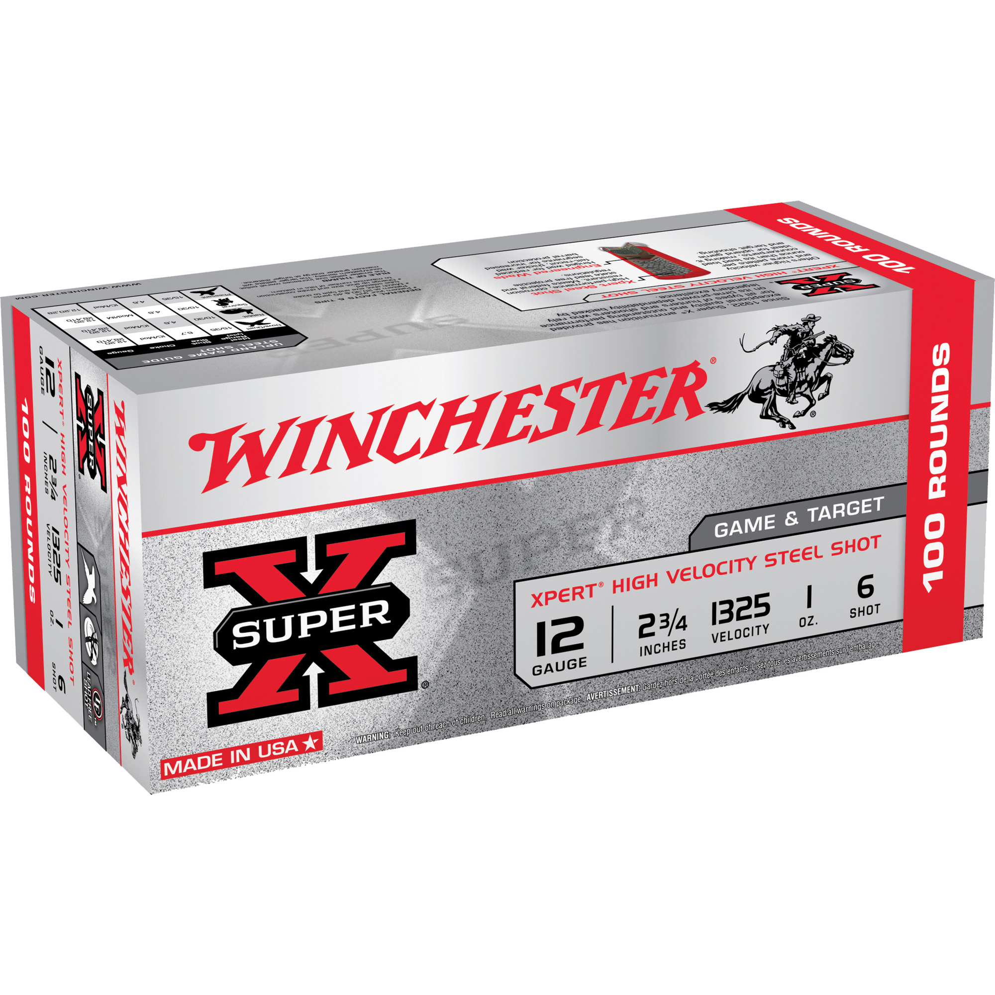 "Winchester Xpert Steel Game & Target Loads, 12-ga.e, 2-3/4"", 1-oz., #7"