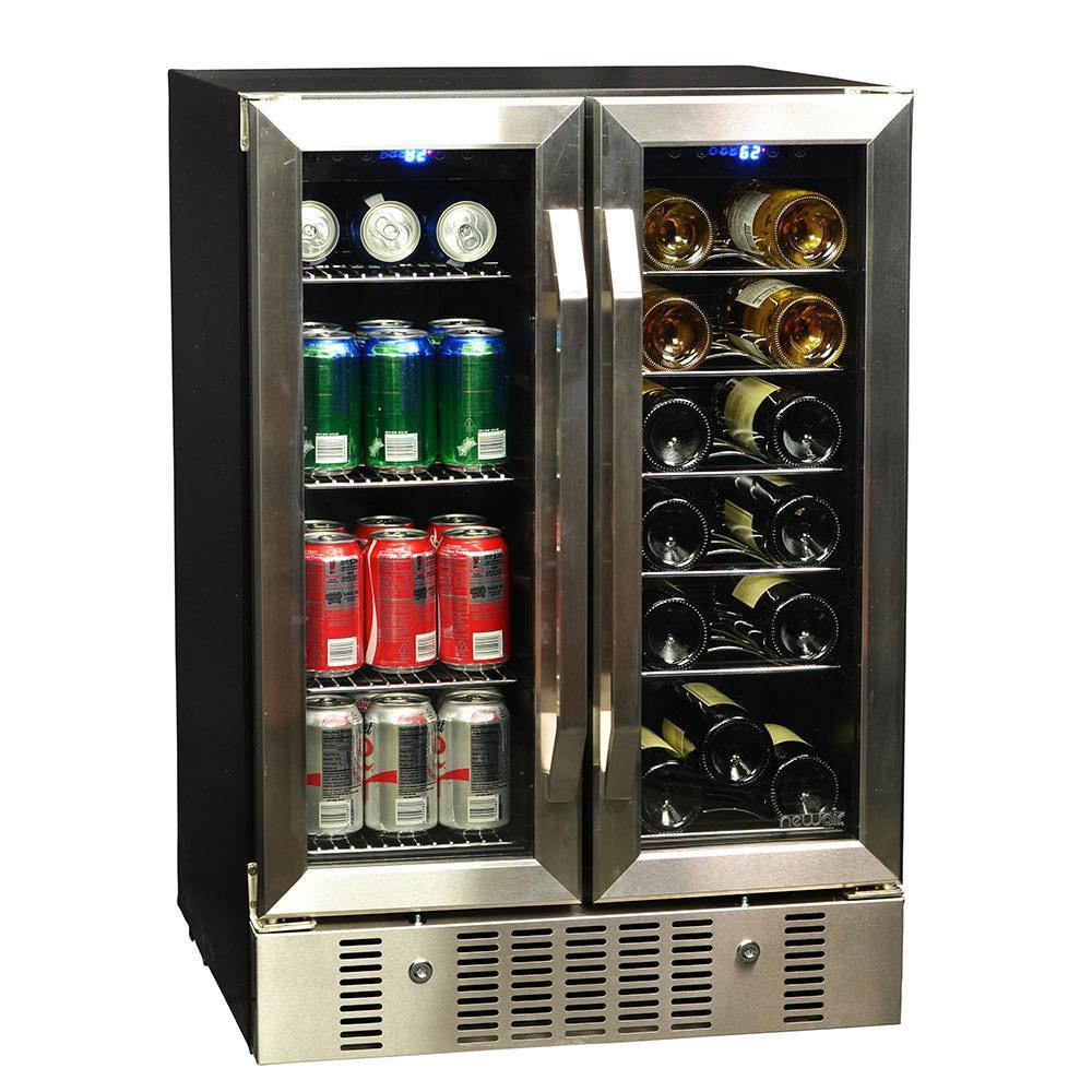 18 Bottle 60 Can Dual Zone Built-in Compressor Wine & Beverage Cooler photo