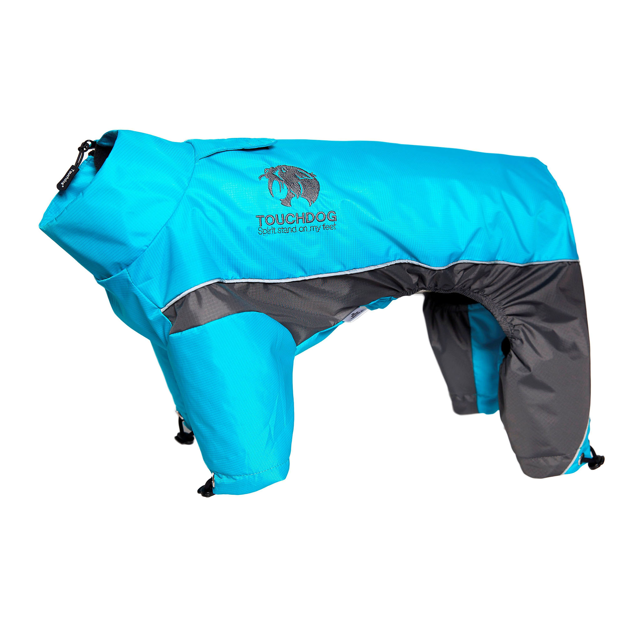 Touchdog Quantum-Ice Full-Bodied Adjustable and 3M Reflective Dog Jacket w/ Blackshark Technology, Ocean Blue-Grey Large (812131035154 Lifestyle Pet Pet Apparel T-Shirts & Jackets) photo