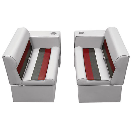 Deluxe Pontoon Furniture w/Classic Base - Front Group Package E, Gray/Navy/Blue