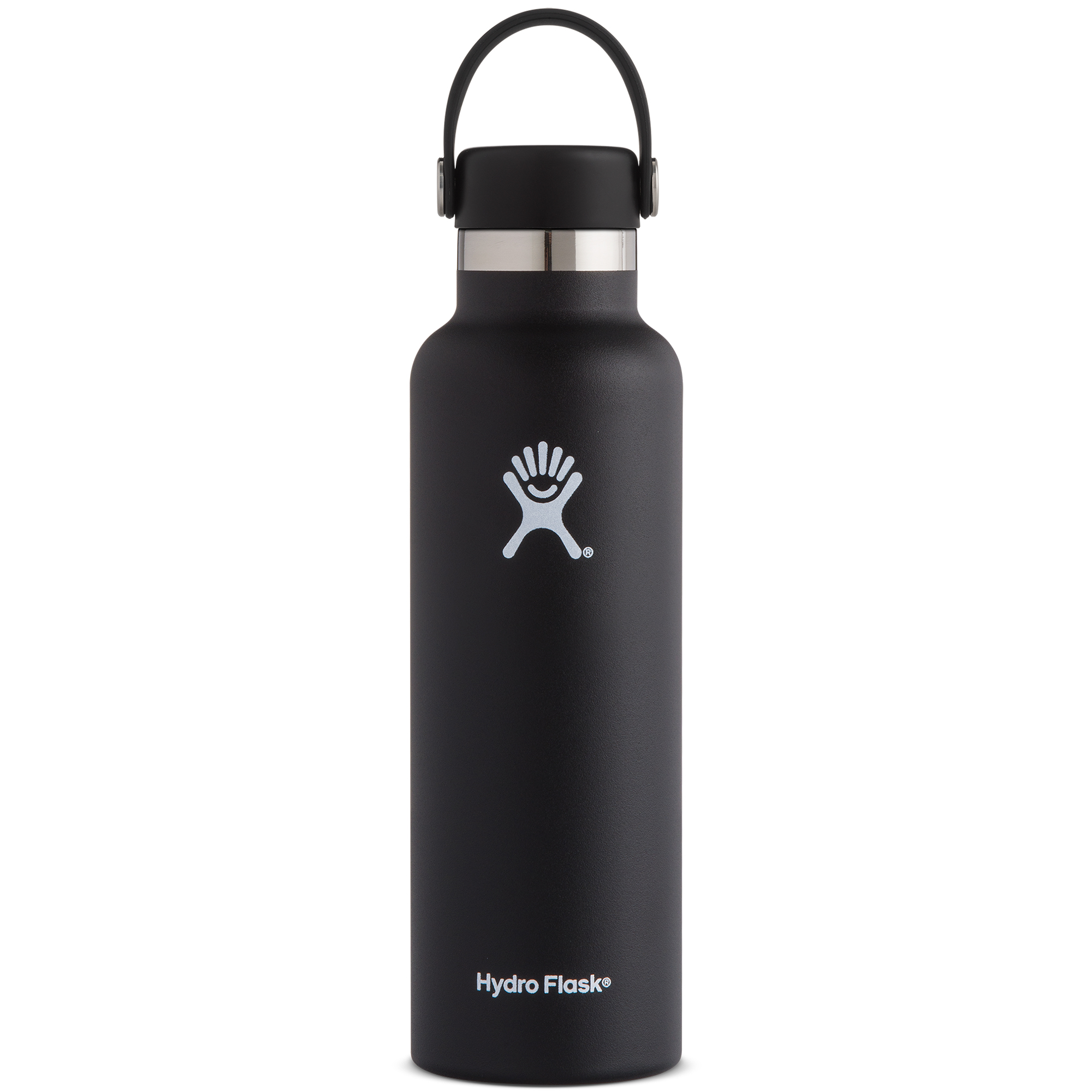 Hydro Flask 21-Oz. Vacuum-Insulated Standard Mouth Bottle With Flex Cap, Black
