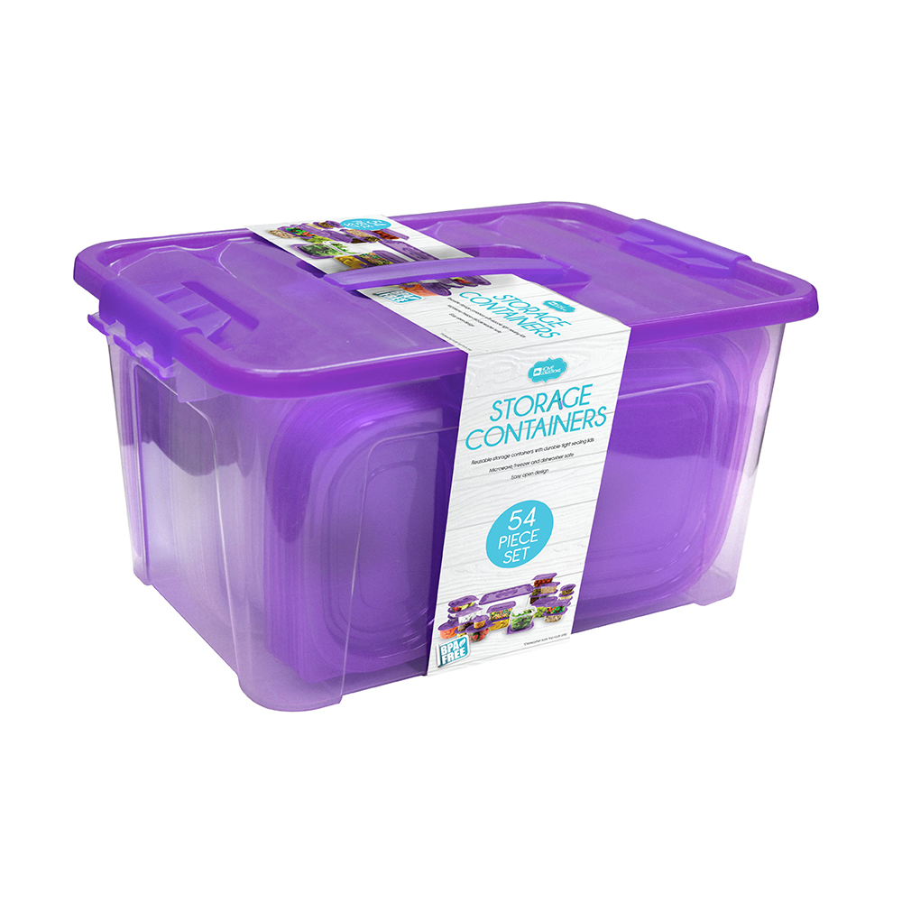 Home Collections 54-Piece Food Storage Container Set, Purple