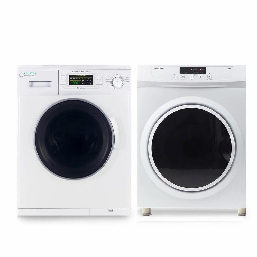Equator Stackable Washer Dryer Set EW 824N + ED 860 V, 2019 Model photo