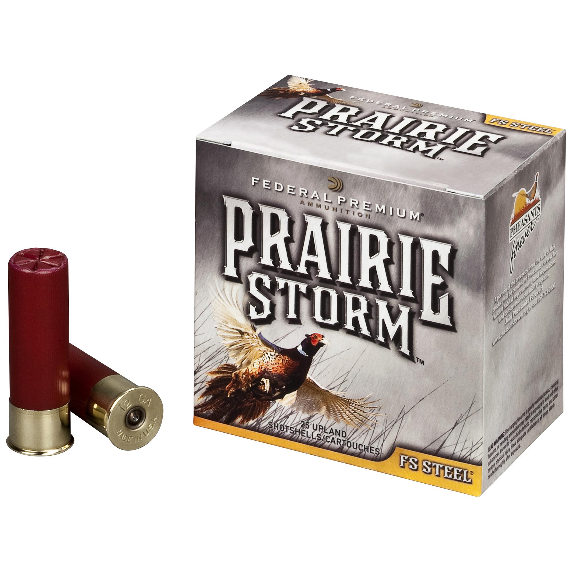 "Federal Premium Prairie Storm FS Steel Ammo, 20 Gauge, 3"", 7/8 oz., #4"