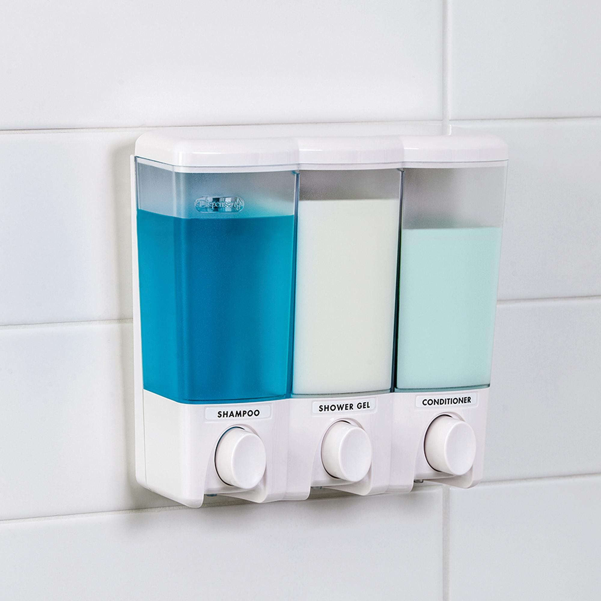 Clear Choice 3-Chamber Shower Dispenser
