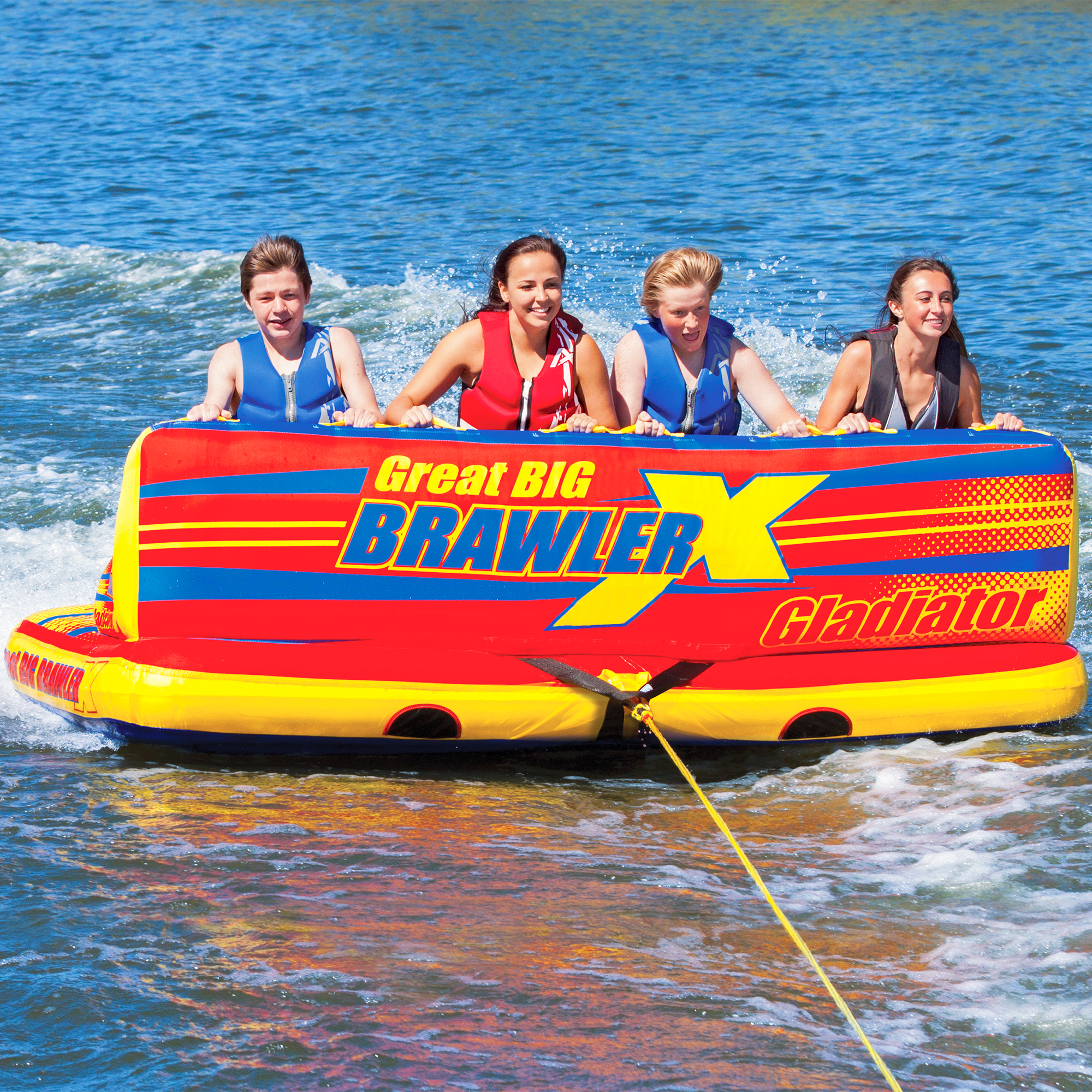 Gladiator Great Big Brawler X 4-Person Towable Tube Package