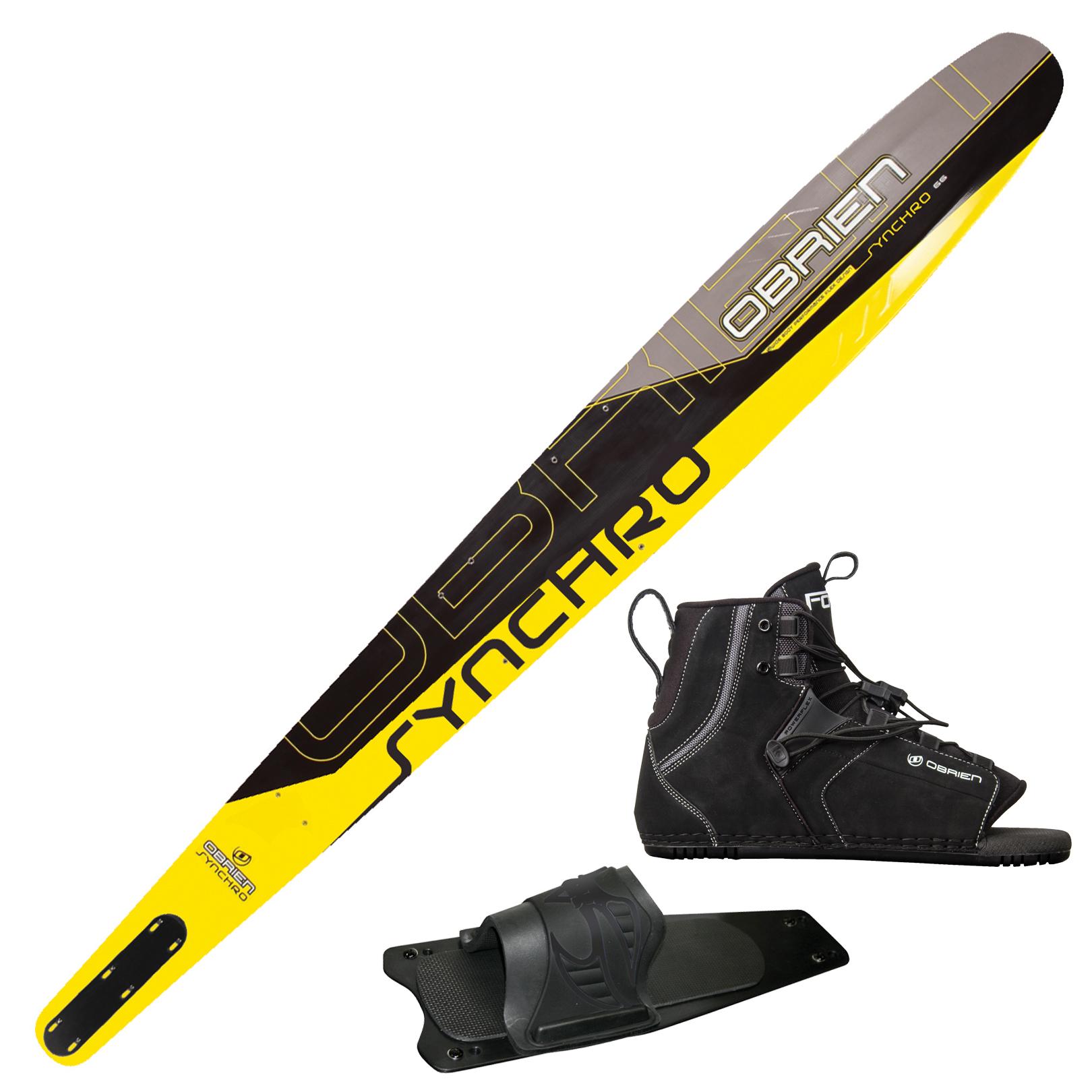 O'Brien Synchro Slalom Waterski Force Binding And Rear Toe Plate