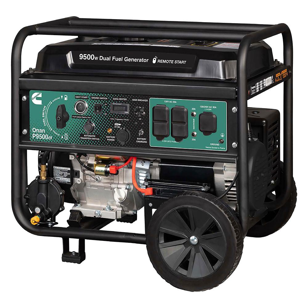 Cummins Onan P9500df Dual Fuel  Gas LPG  Portable Generator A058U967