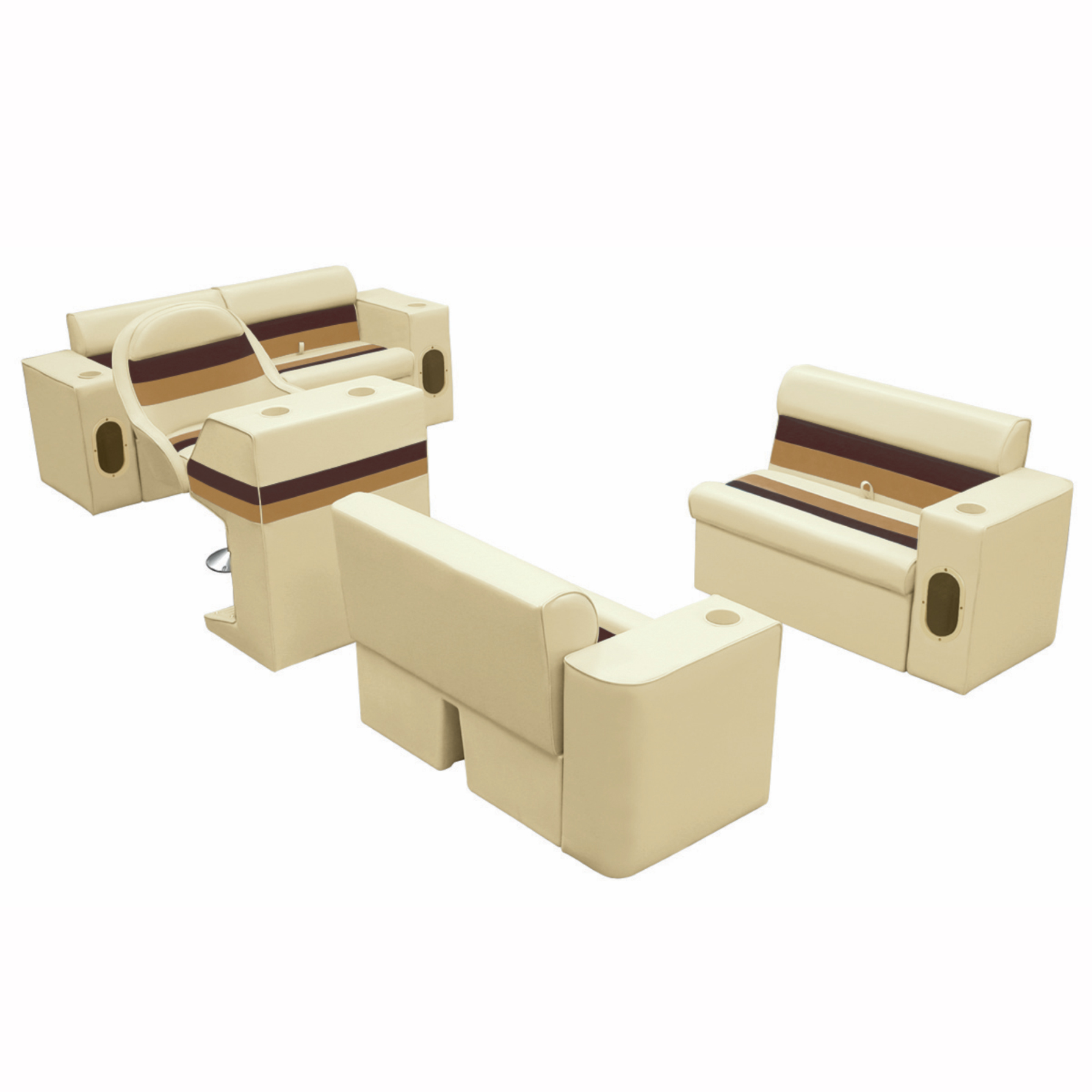 Toonmate Deluxe Pontoon Furniture Classic Base-Complete Boat Traditional Package