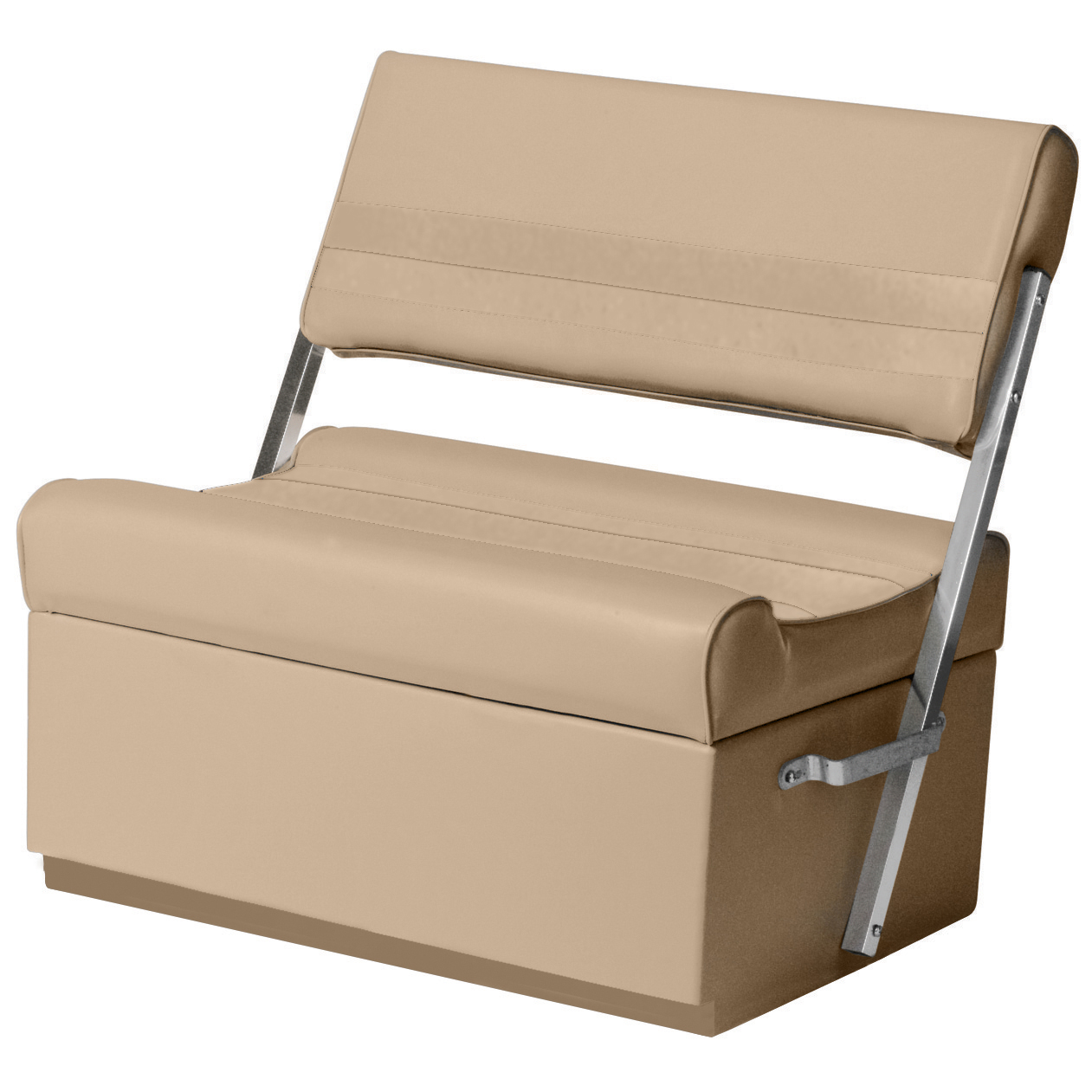 Toonmate Deluxe Pontoon Flip Flop Seat with Toe Kick Base, Sand