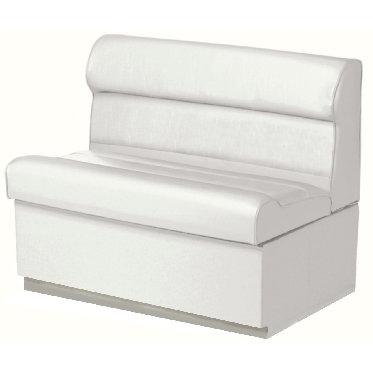 """Toonmate Deluxe Pontoon 36"""" Wide Lounge Seat with Toe Kick Base, White"""