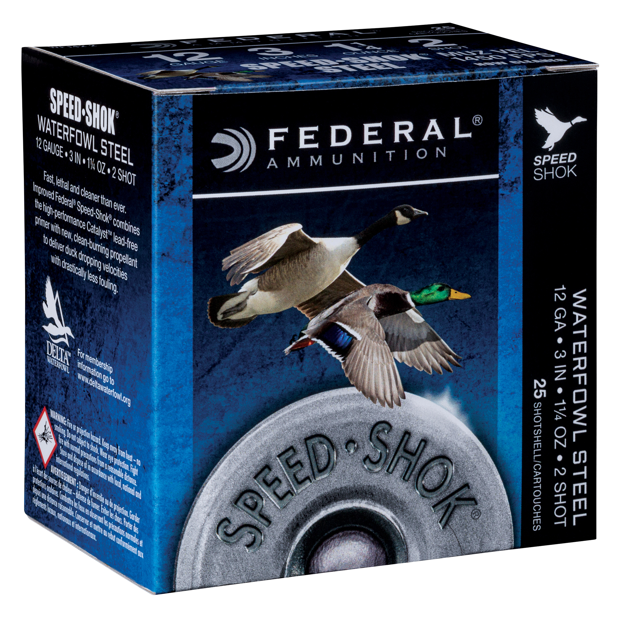 "Federal Premium Speed-Shok Steel Waterfowl Loads, 12-ga., 3"", 1-1/4 oz., 2"