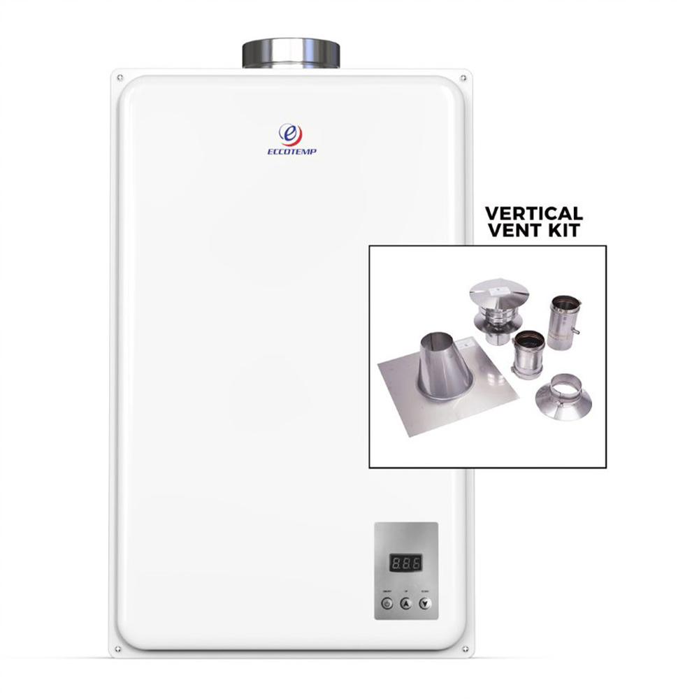 Eccotemp 20HI Indoor 6.0 GPM LP Tankless Water Heater Vertical Bundle