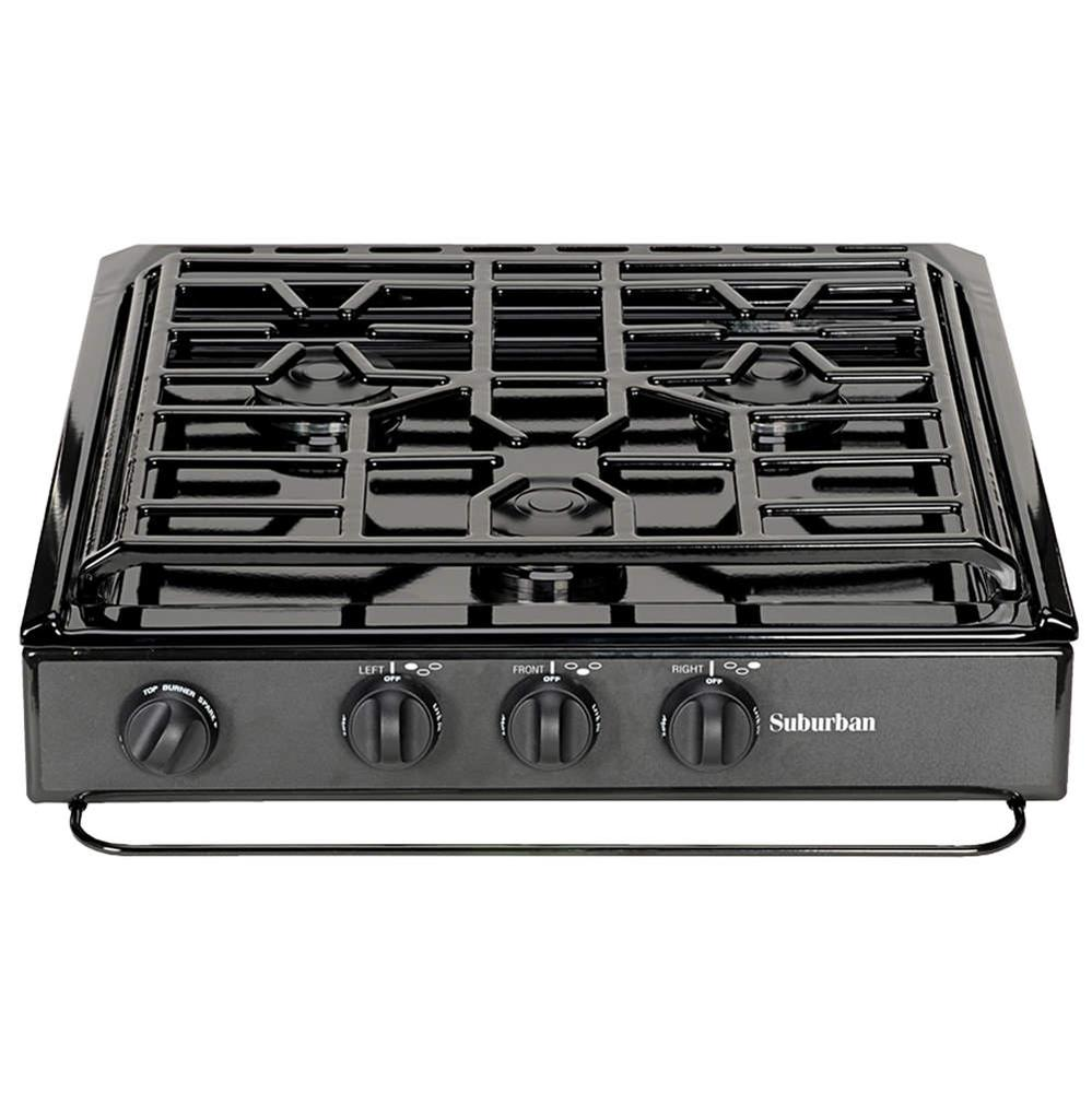 3-Conventional Burners, Slide-In Cooktop photo