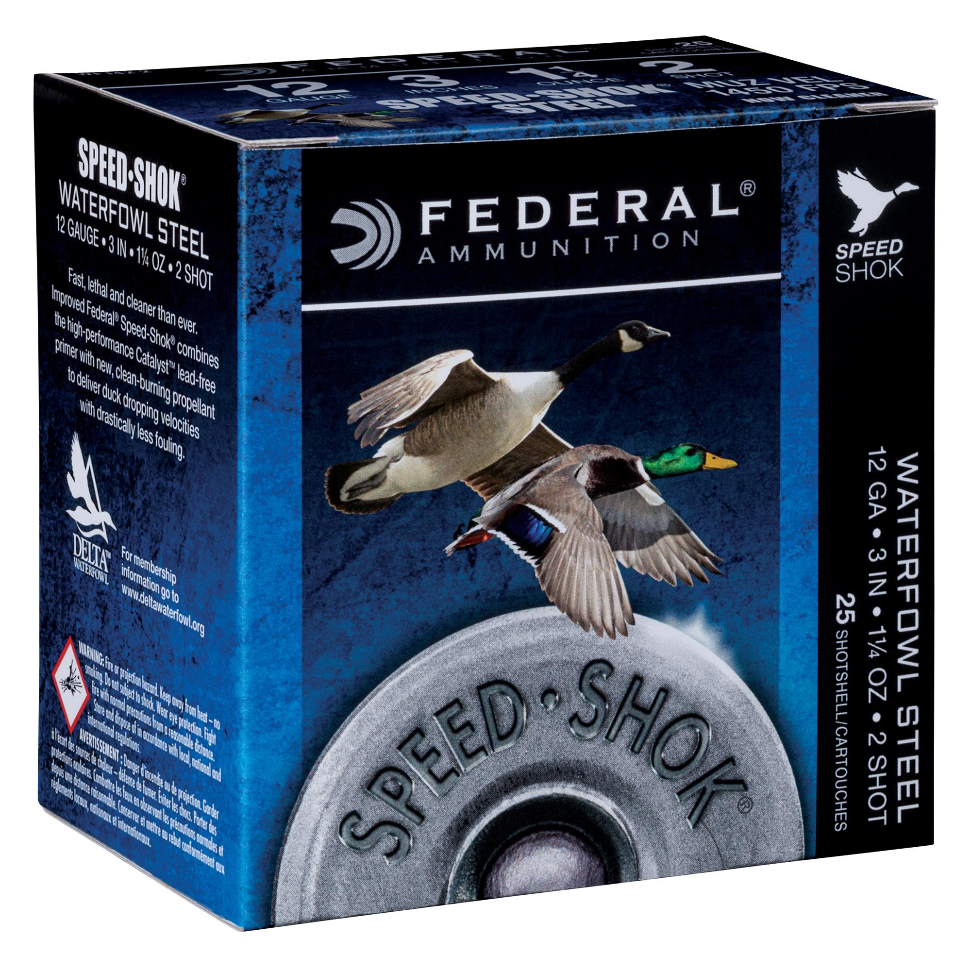 "Federal Premium Speed-Shok Steel Waterfowl Loads, 12-ga., 2-3/4"", 1-1/8 oz., 4"