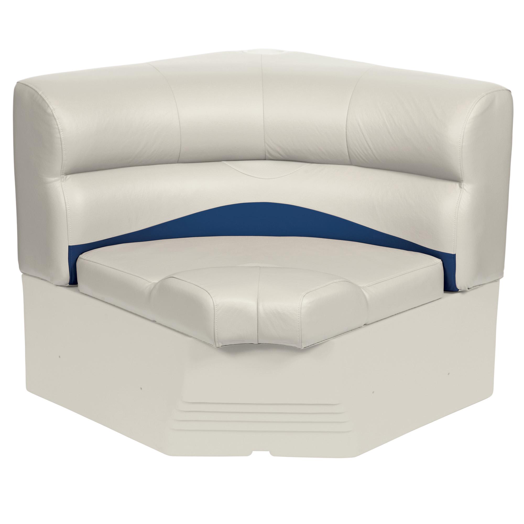 """Toonmate 32"""" Premium Pontoon Radius Corner Section Seat, Platinum Base"""