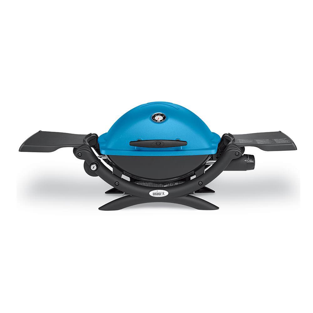 Weber Q 1200 Portable Gas Grill, Blue photo