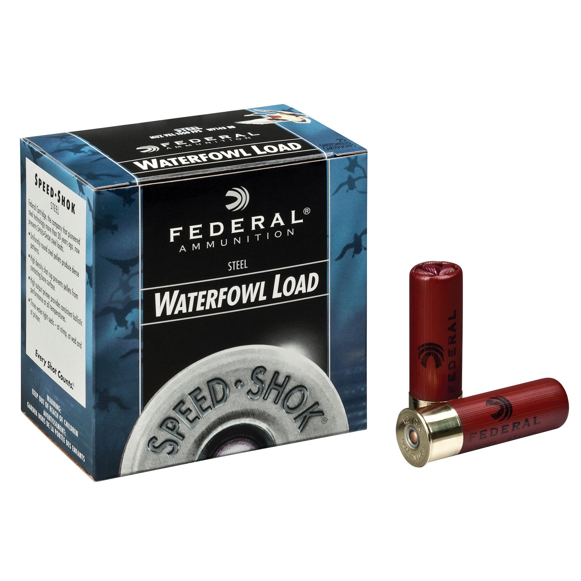 Federal Premium Speed-Shok Waterfowl 12ga, 3in, 1-1/8oz, #2 Shot Ammo