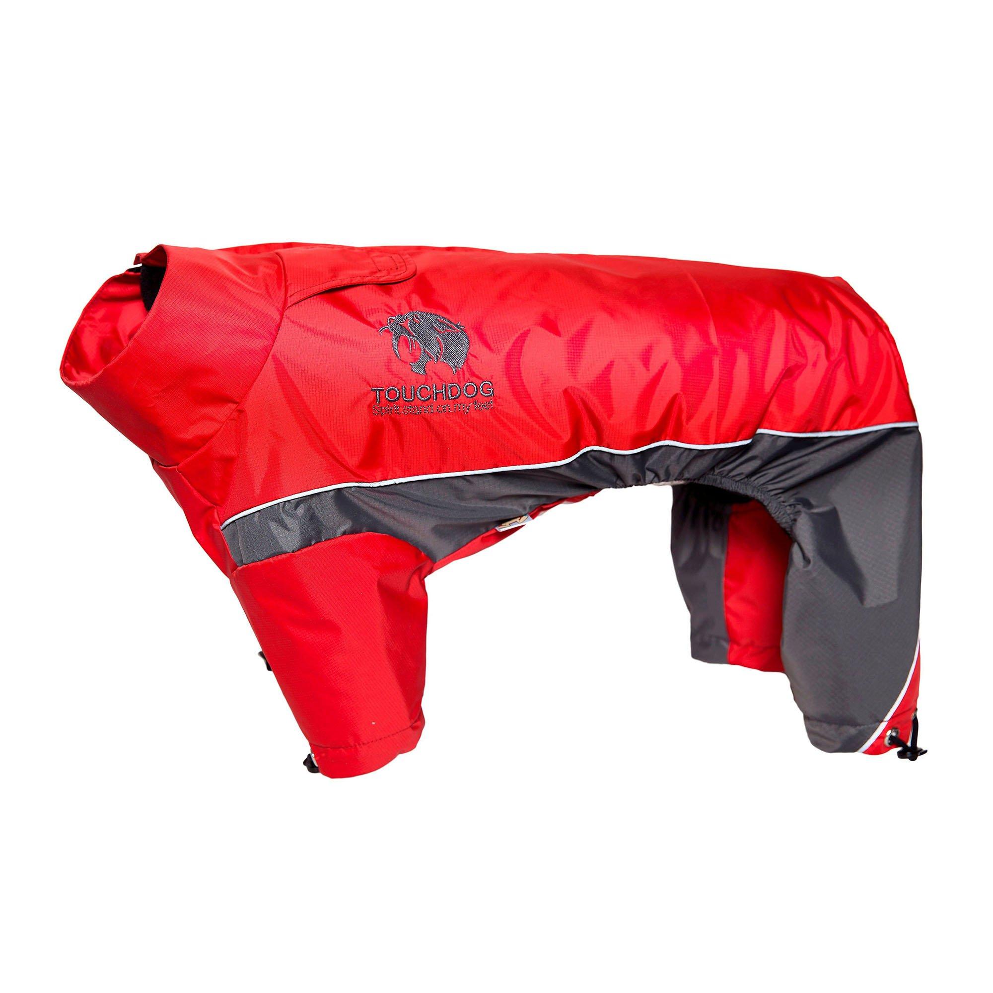 Touchdog Quantum-Ice Full-Bodied Adjustable and 3M Reflective Dog Jacket w/ Blackshark Technology, Red-Charcoal Grey X-Large (812131035215 Lifestyle Pet Pet Apparel T-Shirts & Jackets) photo