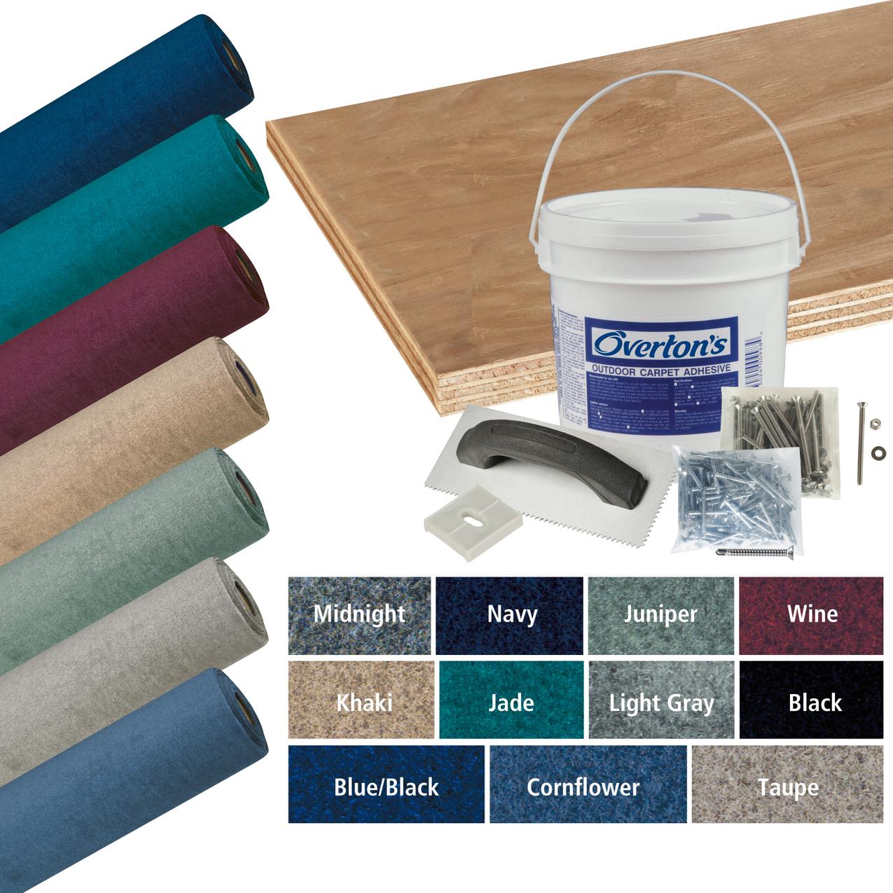 Overton's Malibu Carpet and Deck Kit, 8.5'W x 20'L