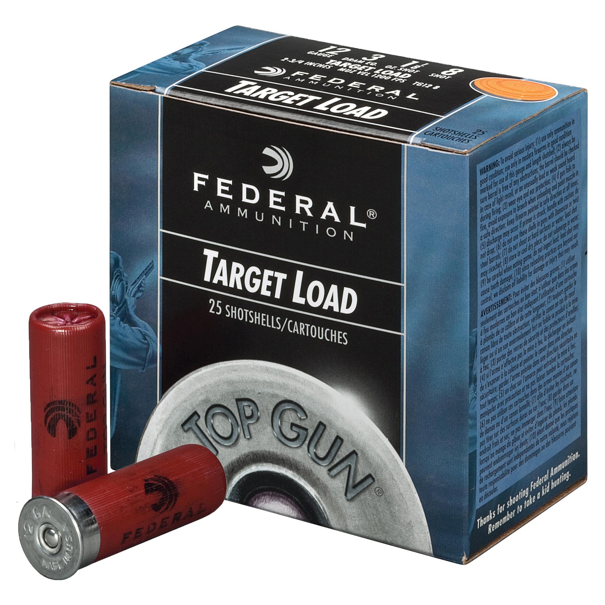 "Federal Top Gun Shotshell Target Loads, 20-ga., 2-3/4"", 7/8 oz., #8, 1210 fps"
