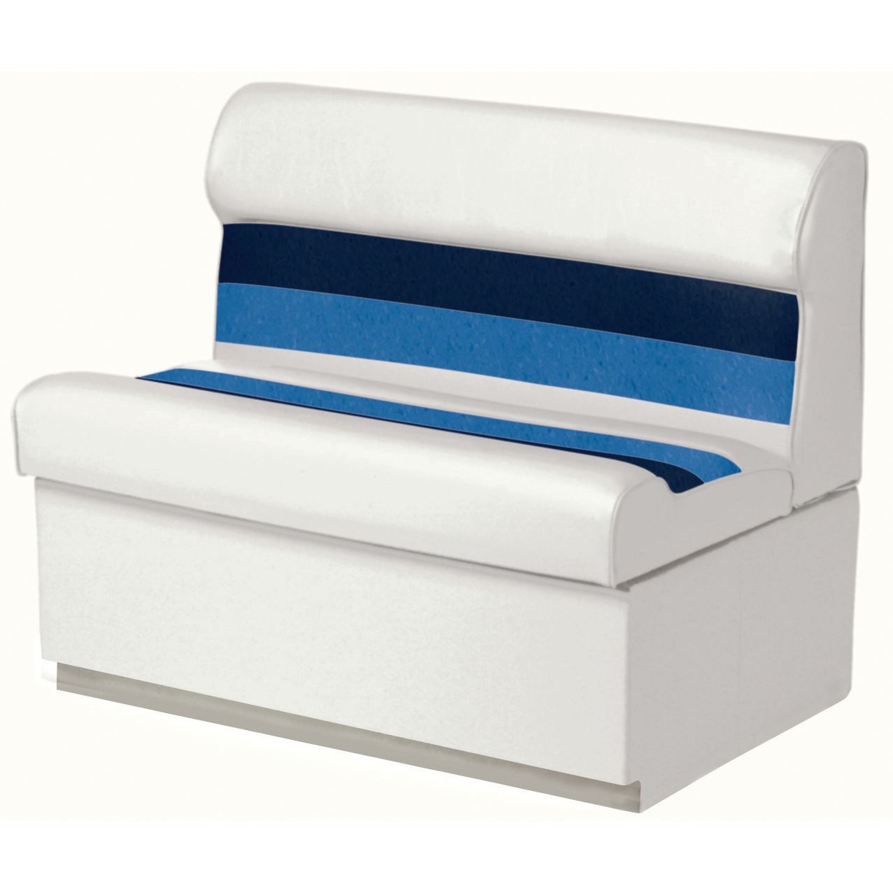 "Toonmate Deluxe Pontoon 27"" Wide Lounge Seat with Toe Kick Base, White"