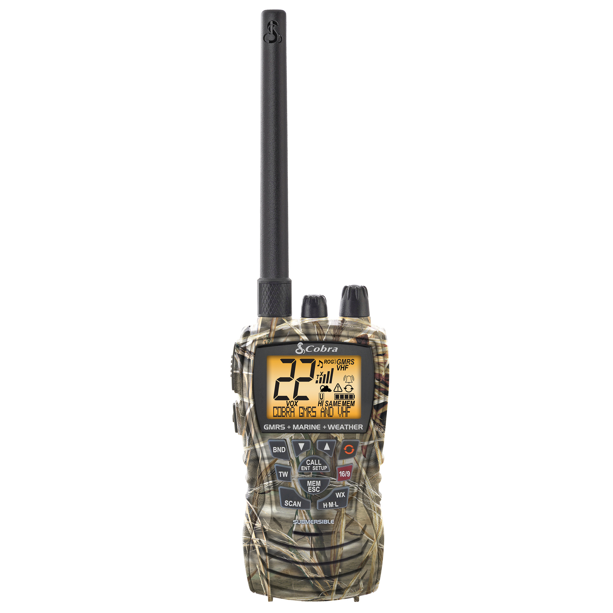c013ac1f99f14 Cobra MR HH450 Dual Combination VHF and GMRS Radio, Realtree Max-4 Camo (