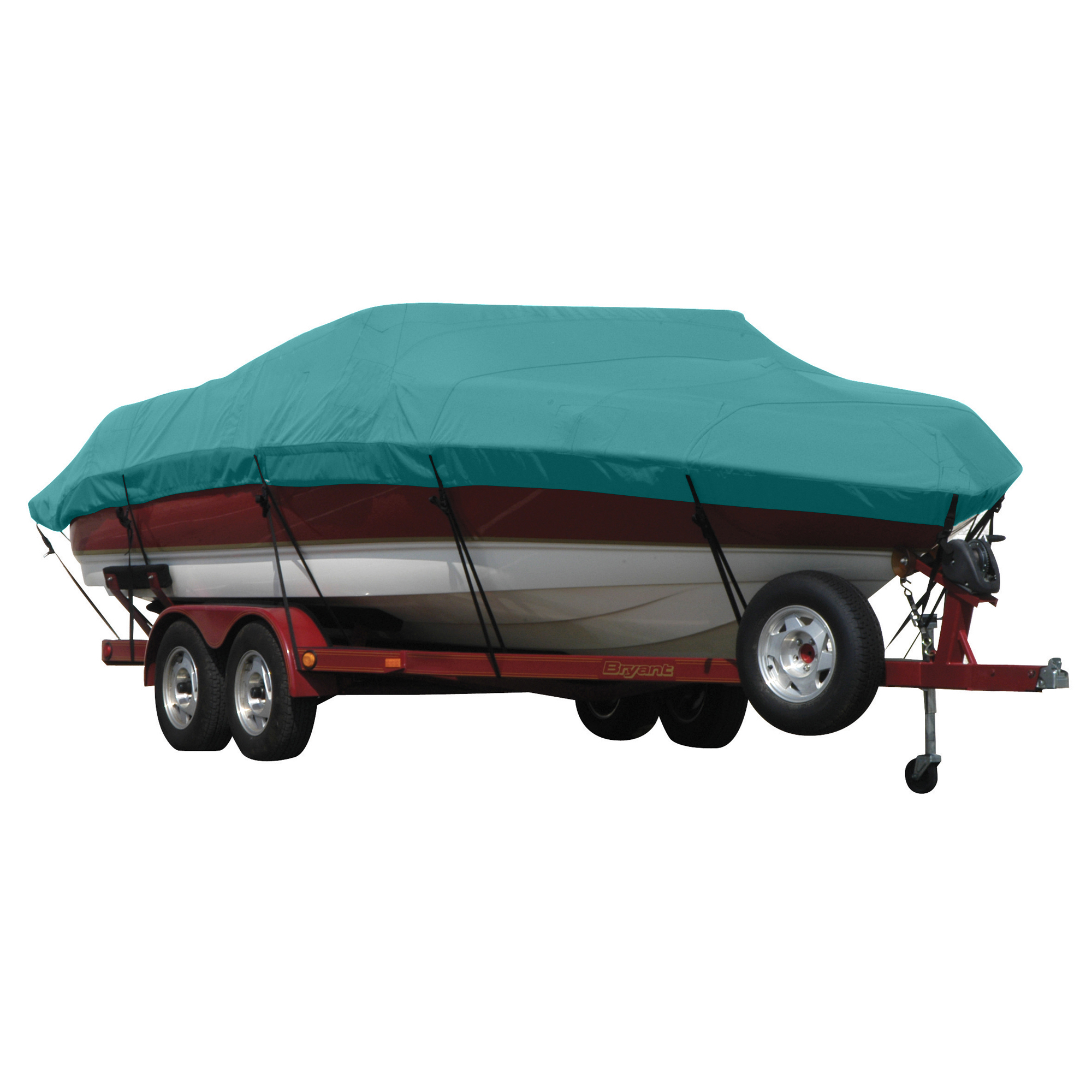 Exact Fit Covermate Sunbrella Boat Cover For CORRECT CRAFT NAUTIQUE 196 COVERS PLATFORM w/BOW CUTOUT FOR TRAILER STOP