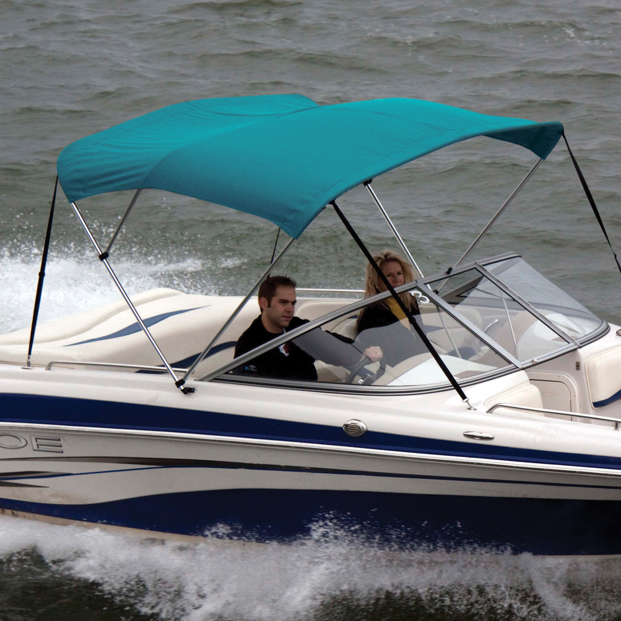 """Shademate Bimini Top Sunbrella Fabric and Boot Only, 3-Bow 5'L, 32""""H, 54""""-60""""W"""