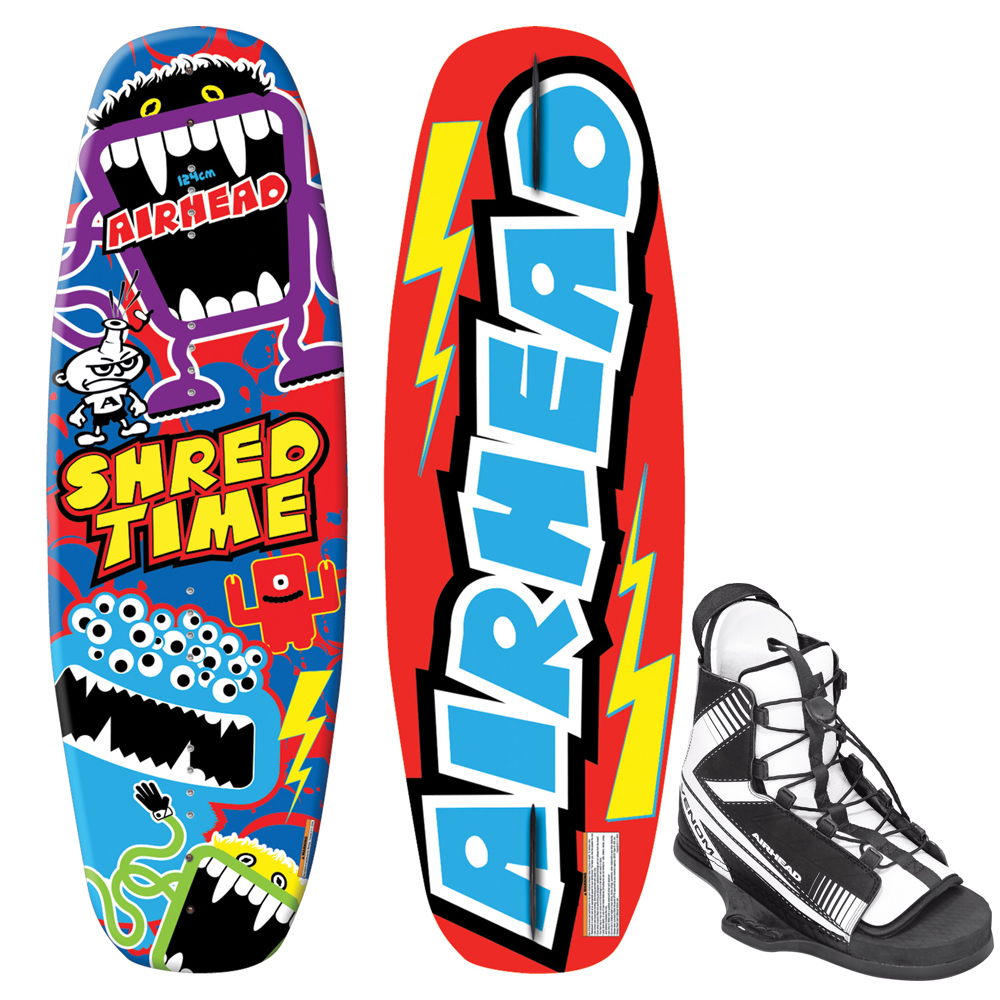 Airhead Shred Time Wakeboard with Venom Youth Bindings