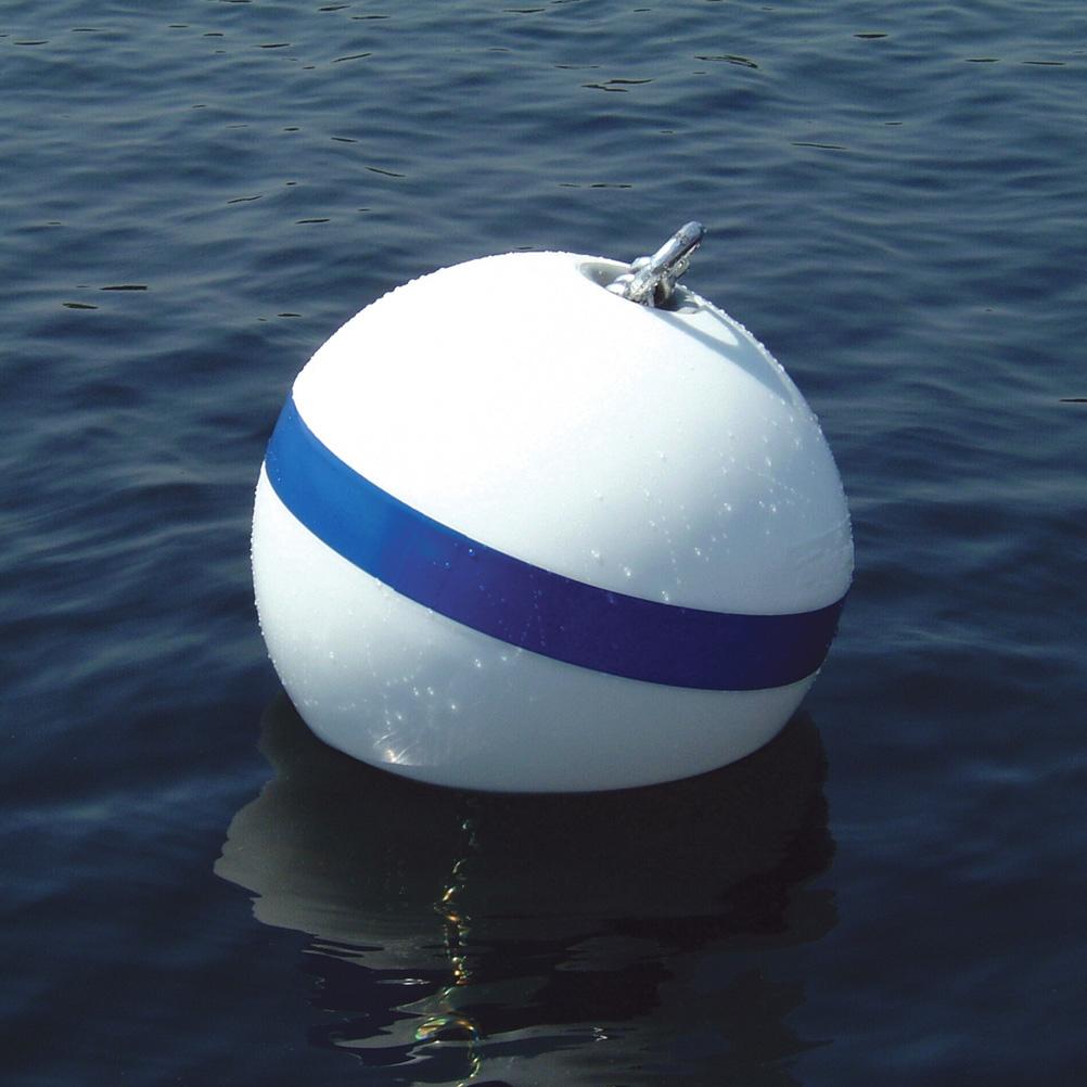 """Sur-Moor T3C Mooring Buoy, White (12"""")"""