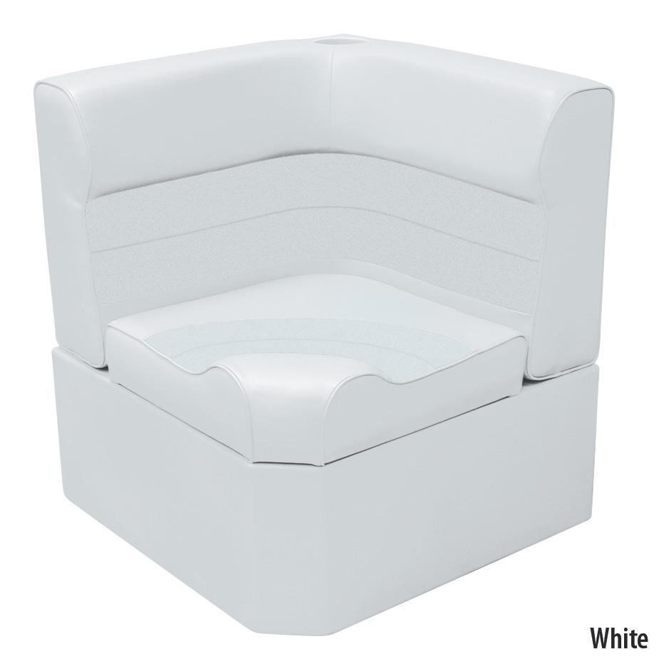 Toonmate Deluxe Radiused Corner Section Seat w/Classic Base (no toe kick), White