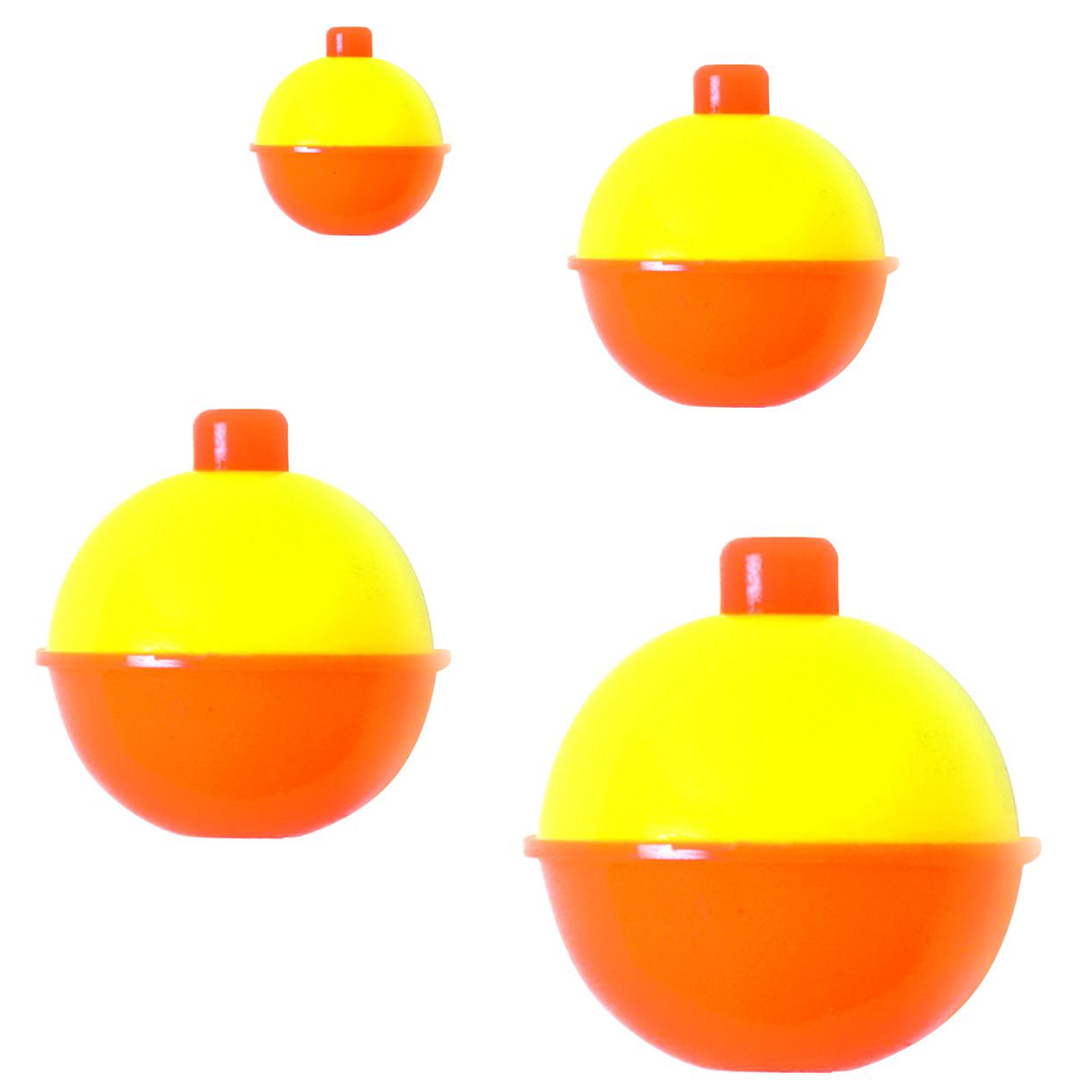 Red//White Assorted Sizes Per 12 Eagle Claw 07030-001 Snap-On Round Floats
