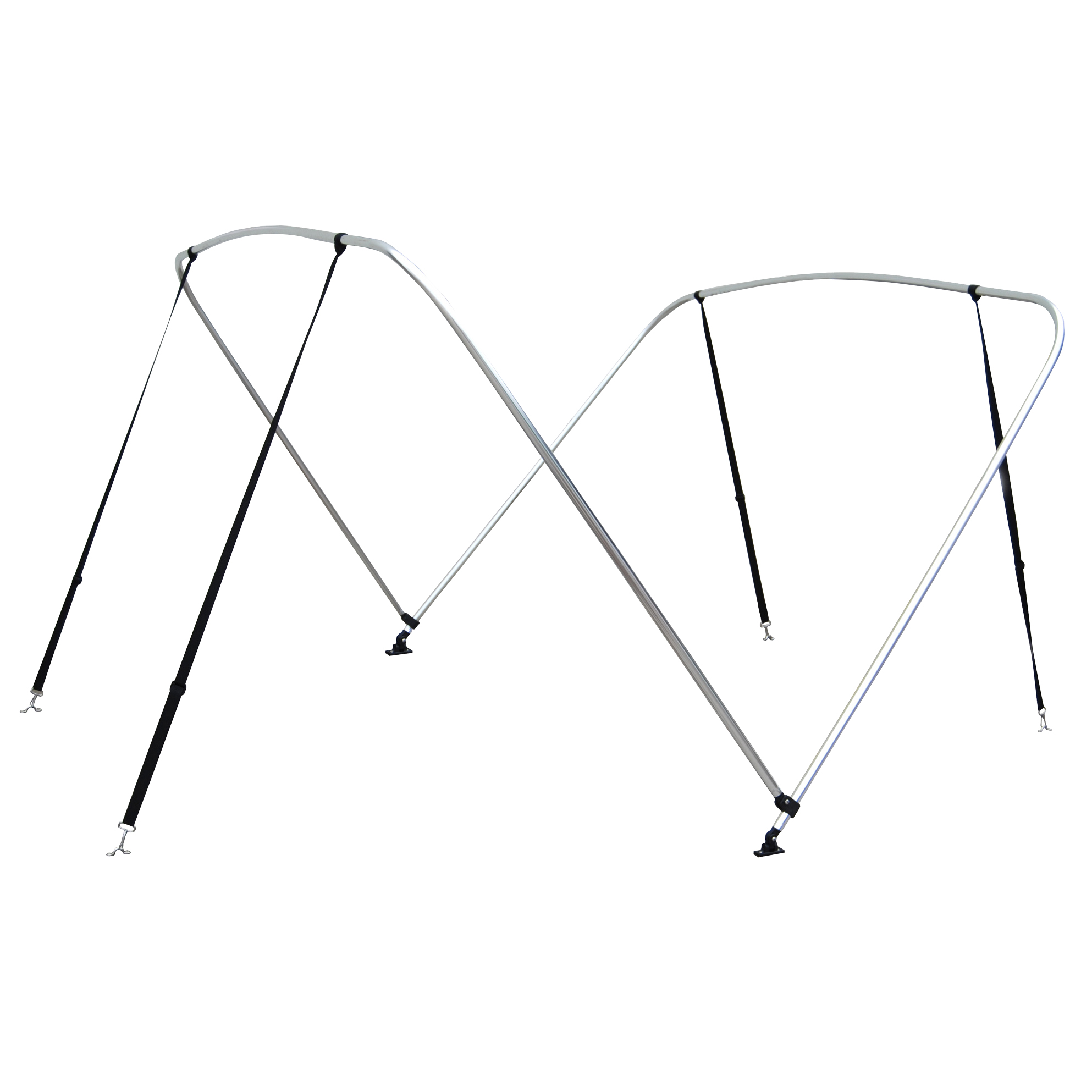 """Shademate Bimini Top 2-Bow Aluminum Frame Only, 5'6""""L x 42""""H, 54""""-60"""" Wide"""