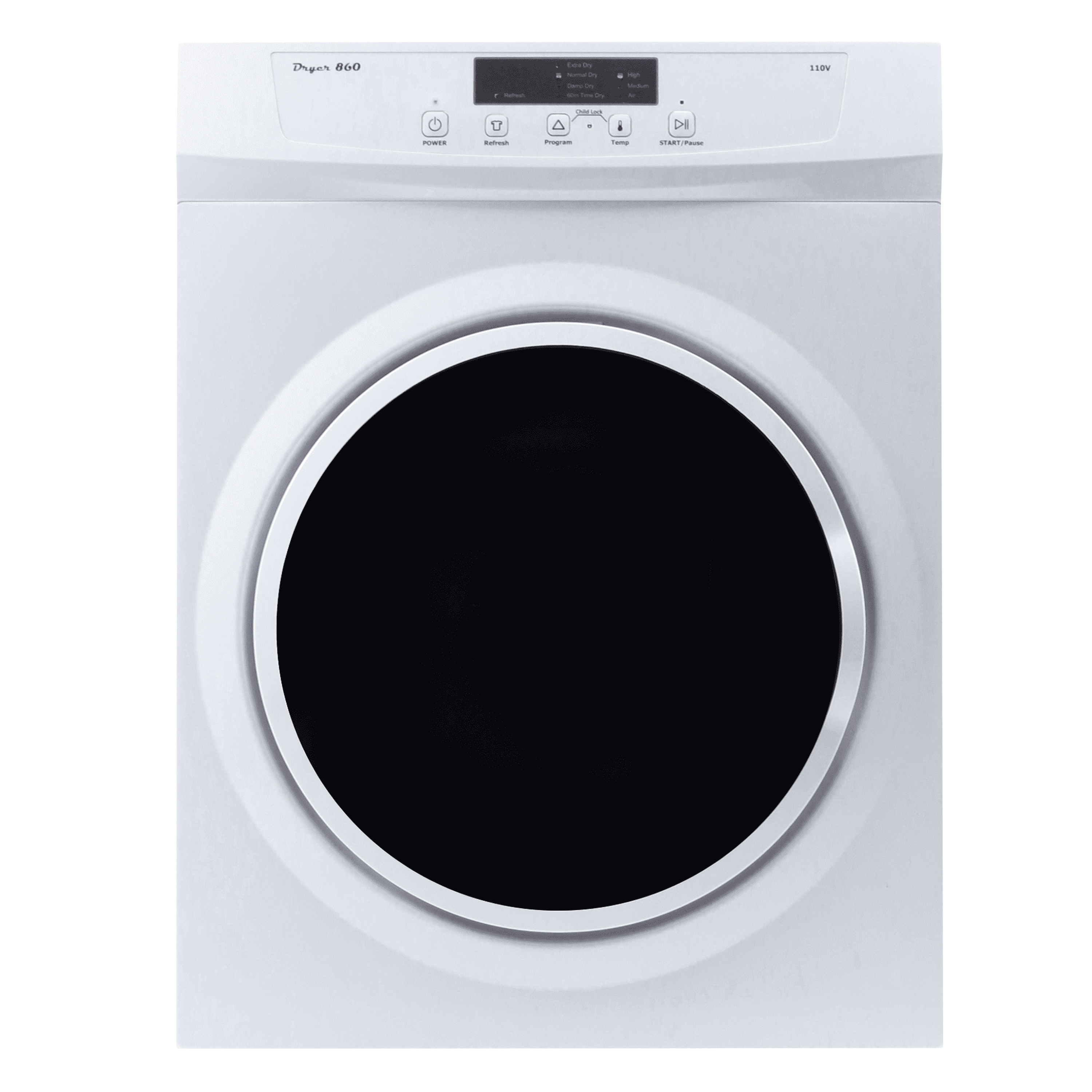Pinnacle Appliances 3.5 ct. ft Front Load Dryer, White photo
