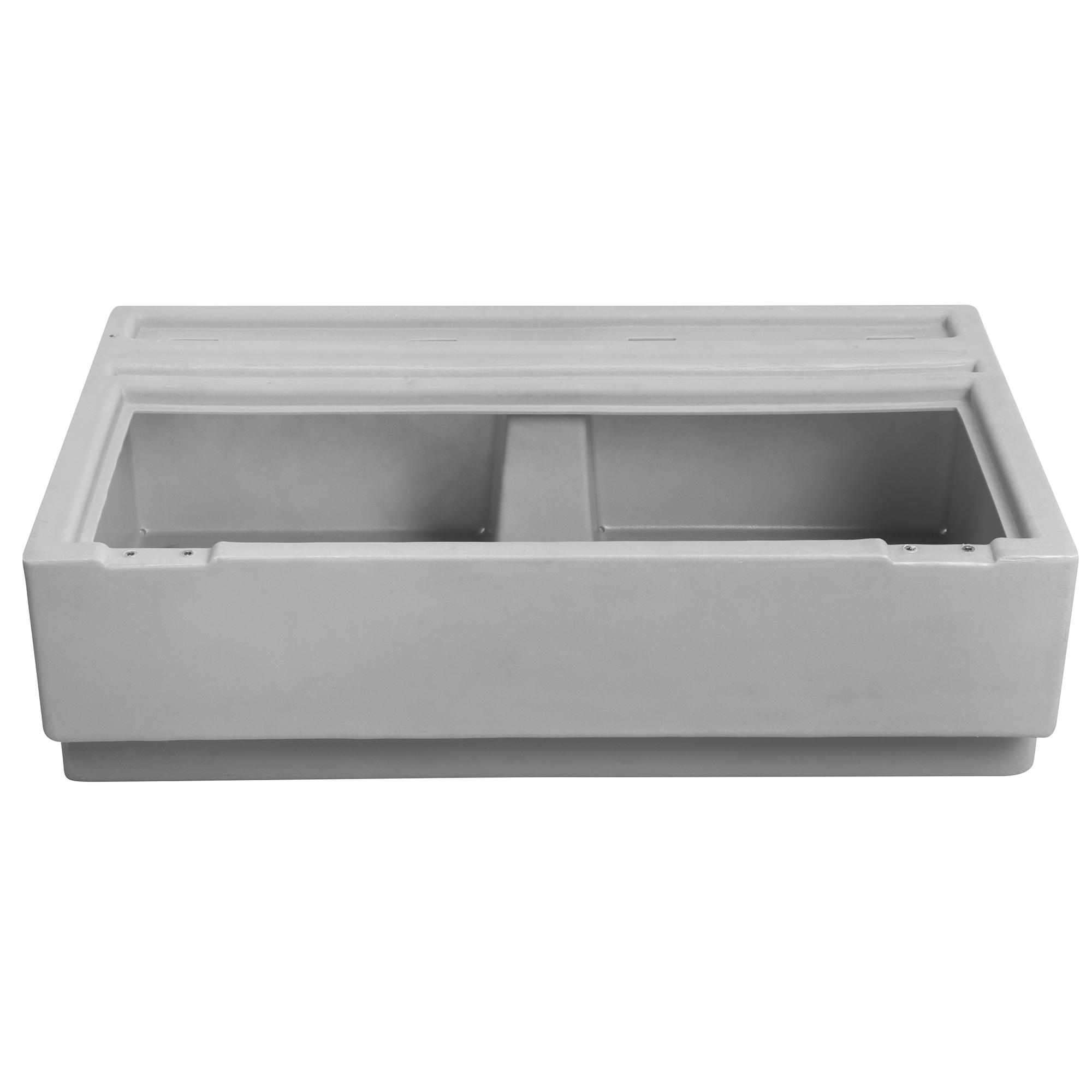 "Toonmate Designer Pontoon 36"" Wide Bench Seat, Platinum"