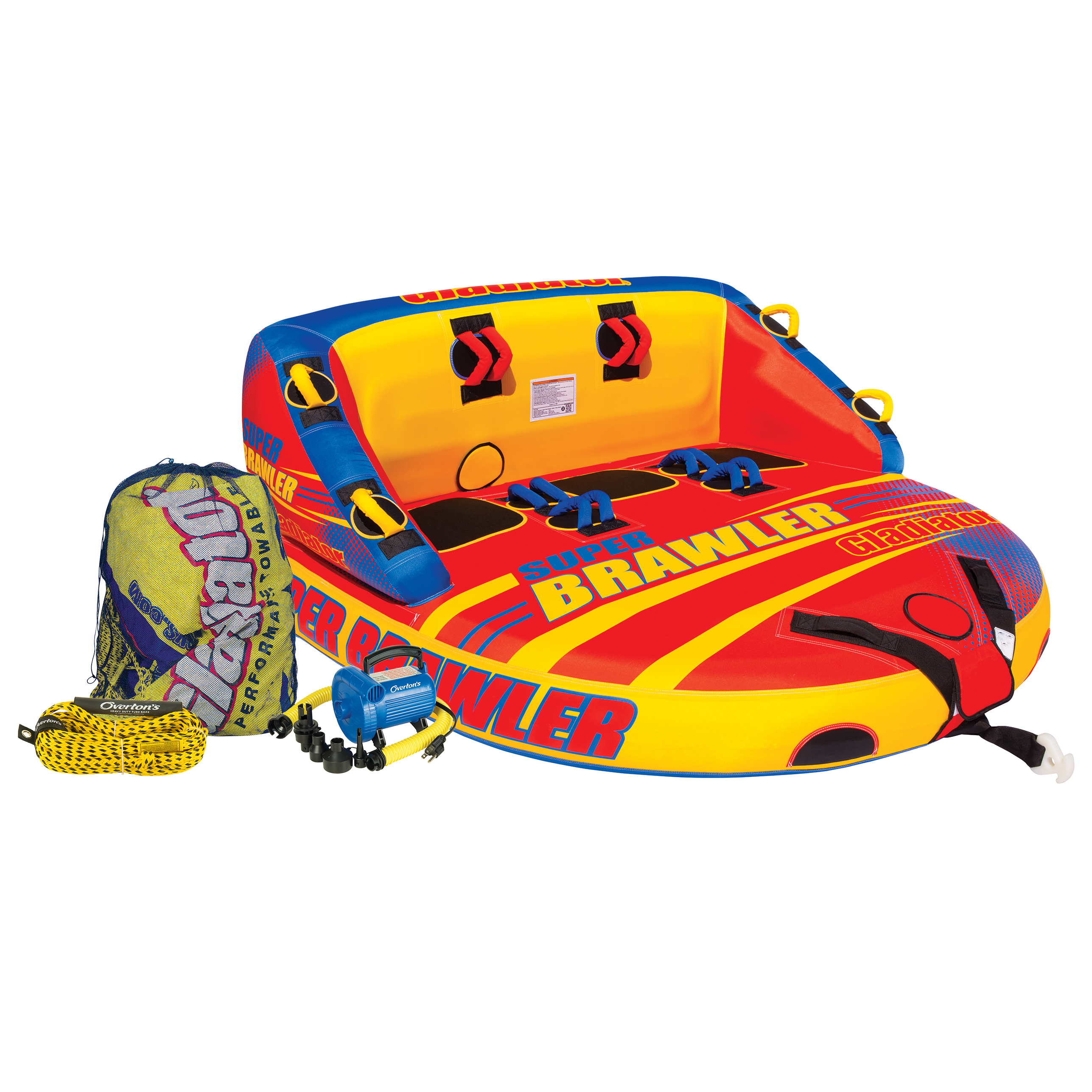 Gladiator Super Brawler 3-Person Towable Tube Package