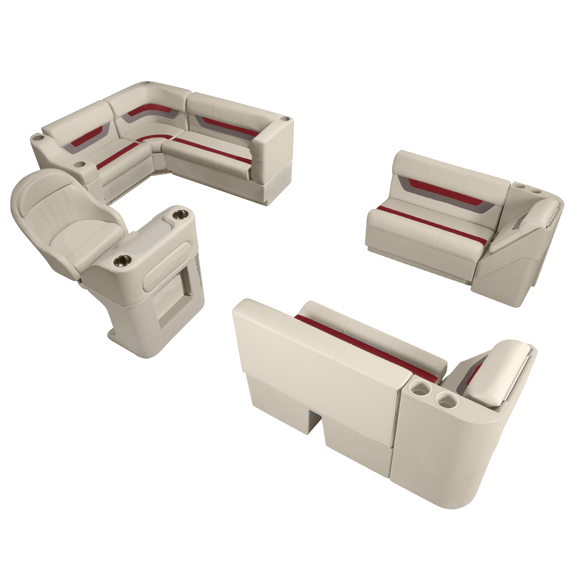 Toonmate Designer Pontoon Furniture Complete Boat Package w/Console & Helm Seat