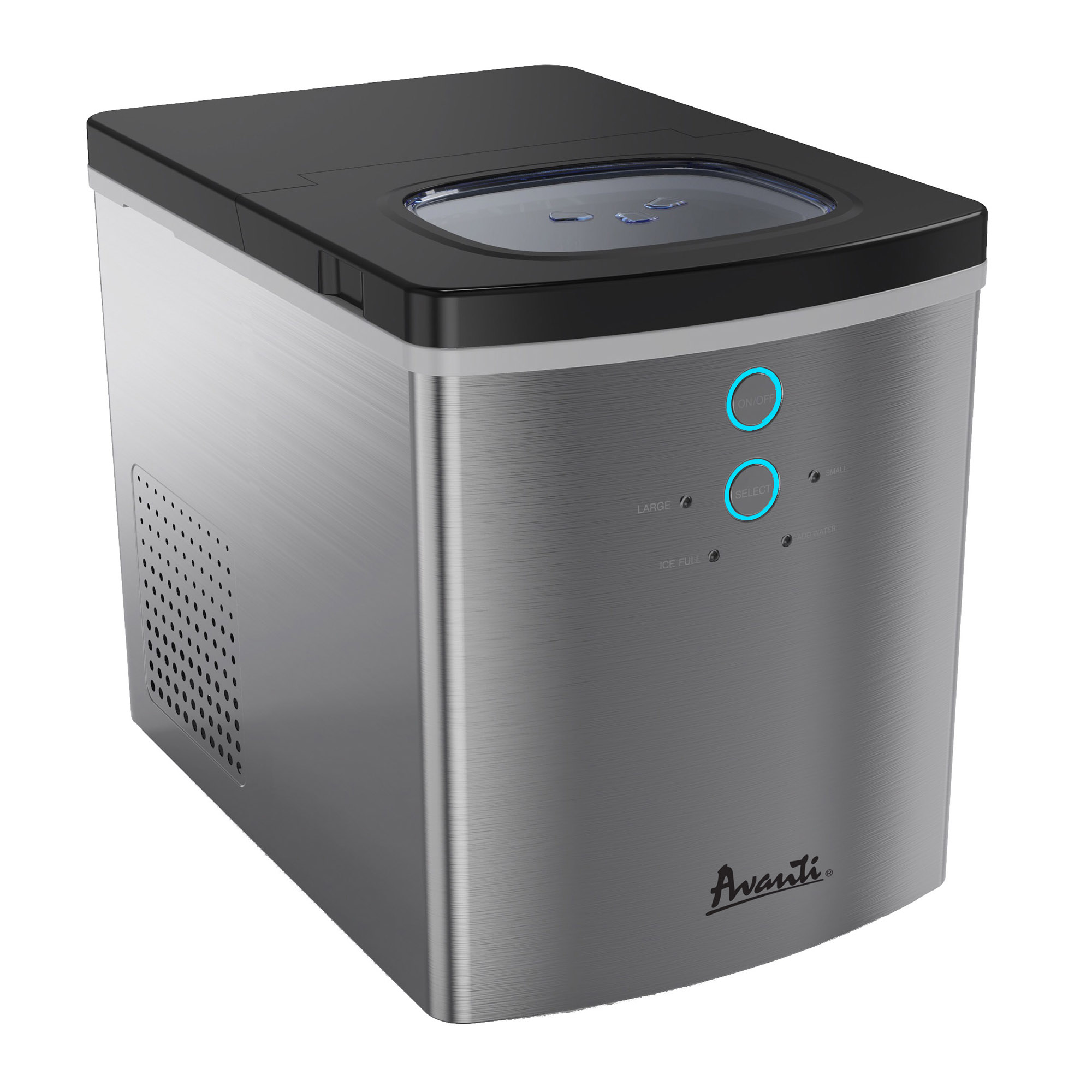 Avanti Portable Countertop Ice Maker, Stainless Steel photo