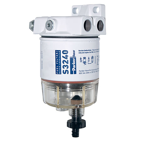 Spin-On Series Fuel Filter/Water Separator For Outboards, 30 GPH (1/4
