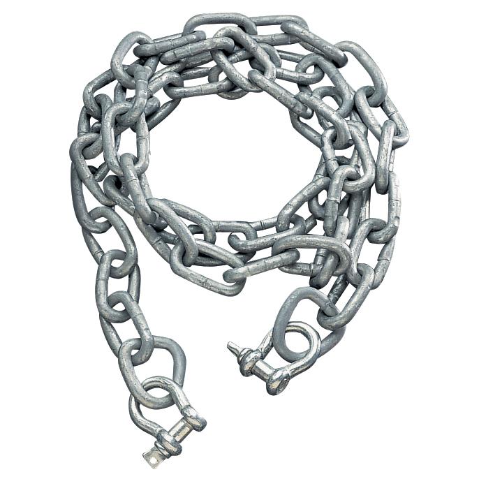 "Galvanized Anchor Chain, 3/8"" x 6' Chain"