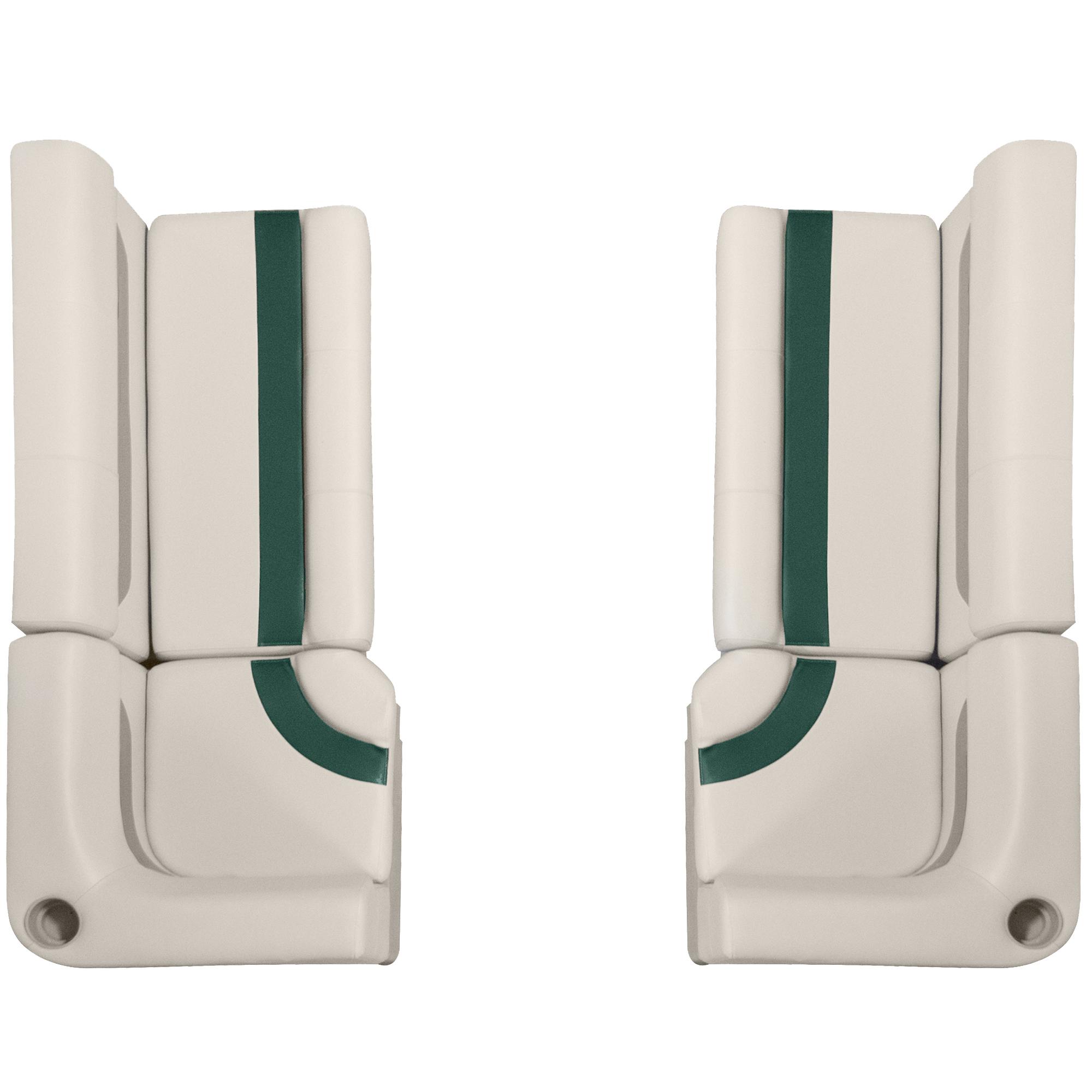 """Designer Pontoon Furniture - 61"""" Front Seat Package, Platinum/Evergreen/Mocha"""