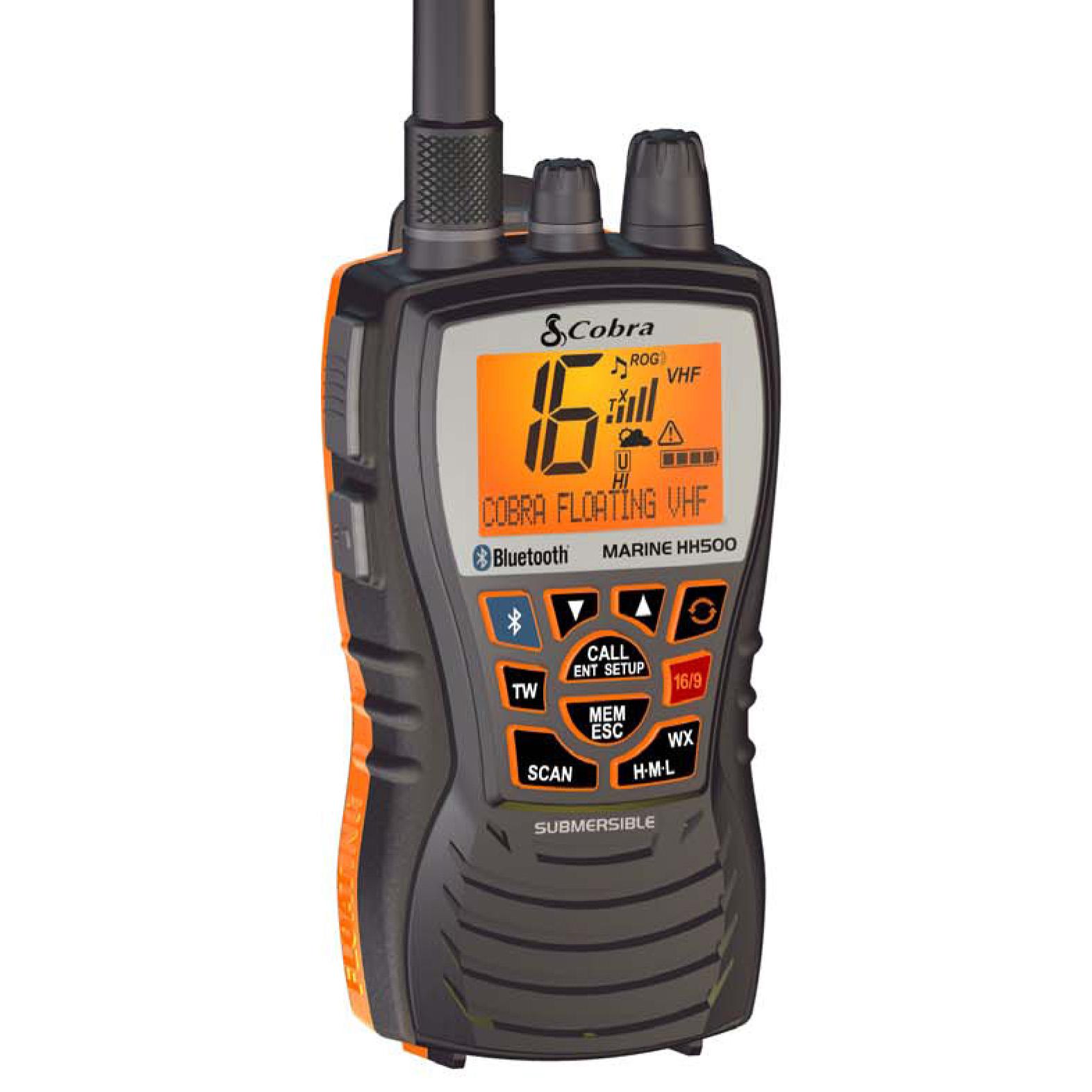 Cobra MR HH500 FLT BT Floating Handheld VHF Radio w/Bluetooth Technology (028377201653) photo