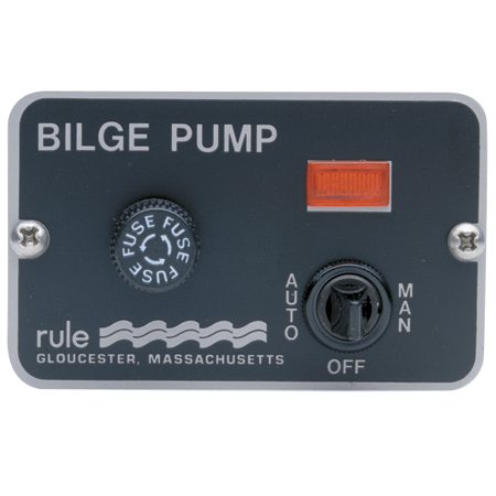 Rule 41 Three-Way Lighted Panel Switch For Automatic Bilge Pump photo